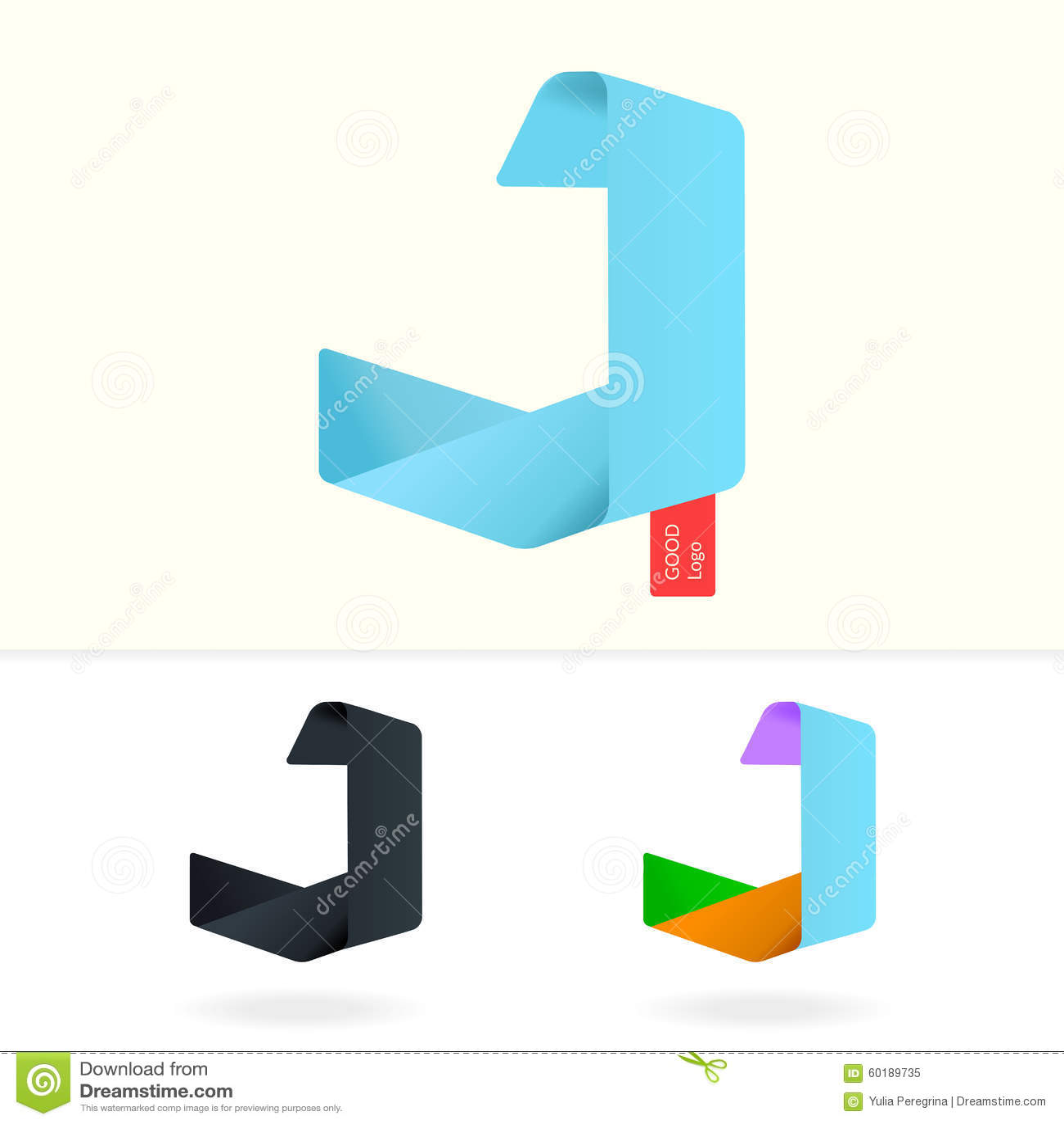 J J Logo Design Letter J Logo D...