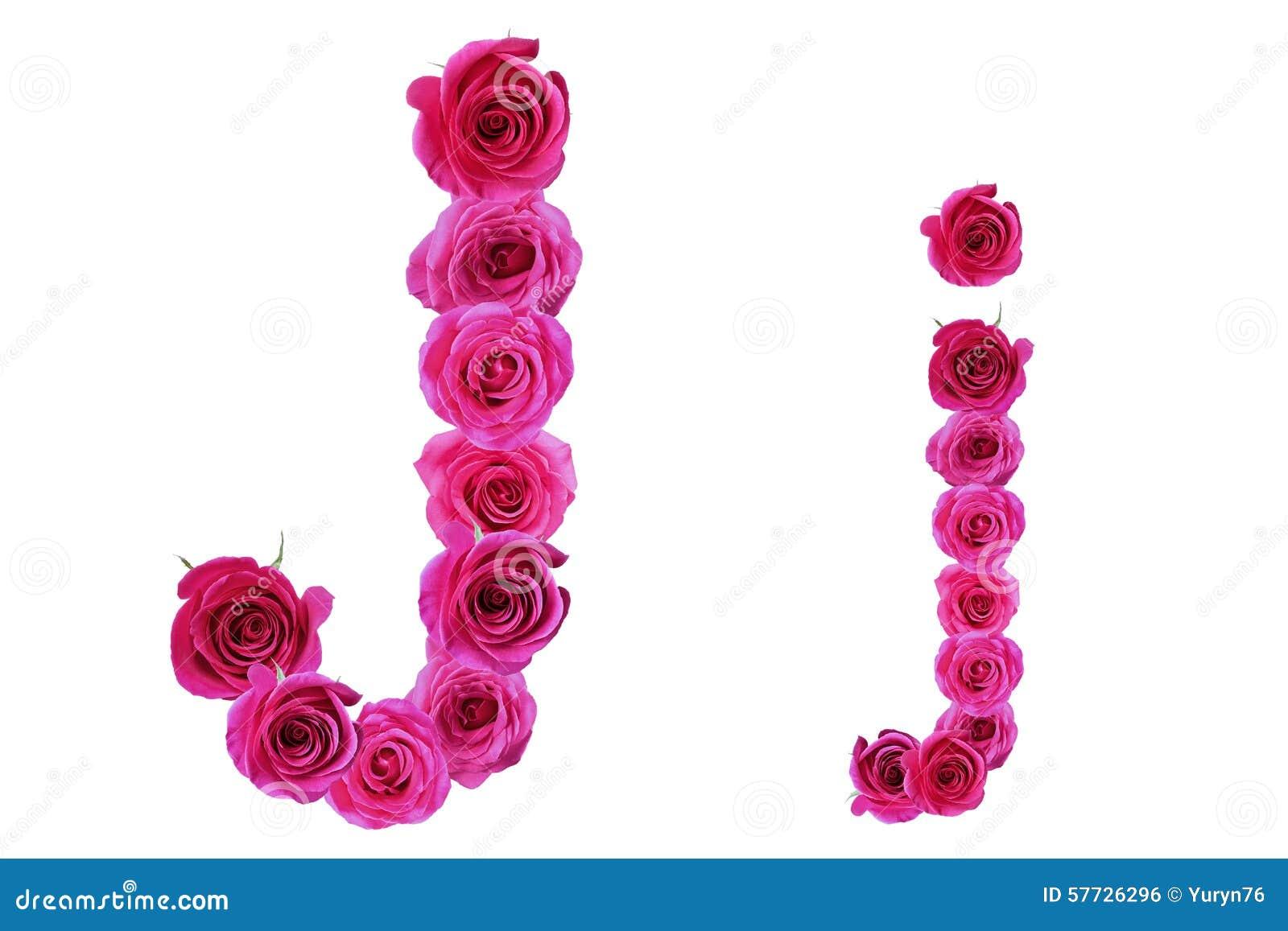 Letter J Of Rosesalphabet Flower Season Rose Plant Symbol Style Text Nature Floral Foliage Flora Natural Abc Letters Organic Set Leaf