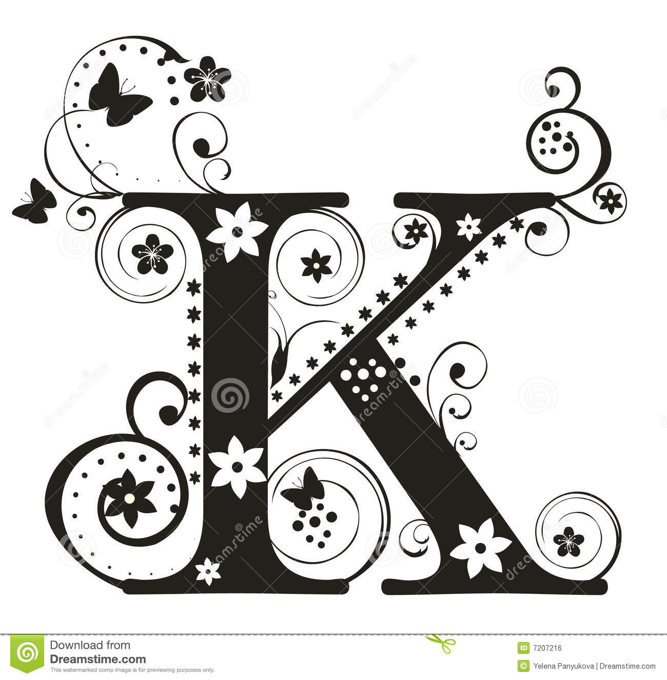 Letter K Royalty Free Stock Image - Image: 7207216