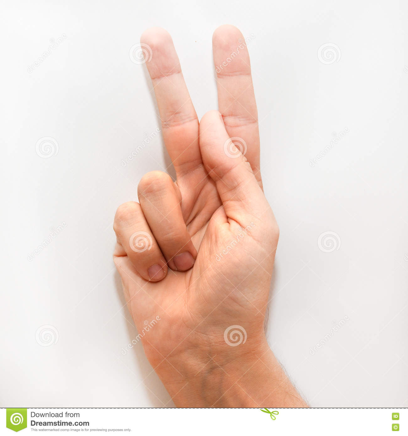 Letter K In American Sign Language Asl Stock Image Image Of