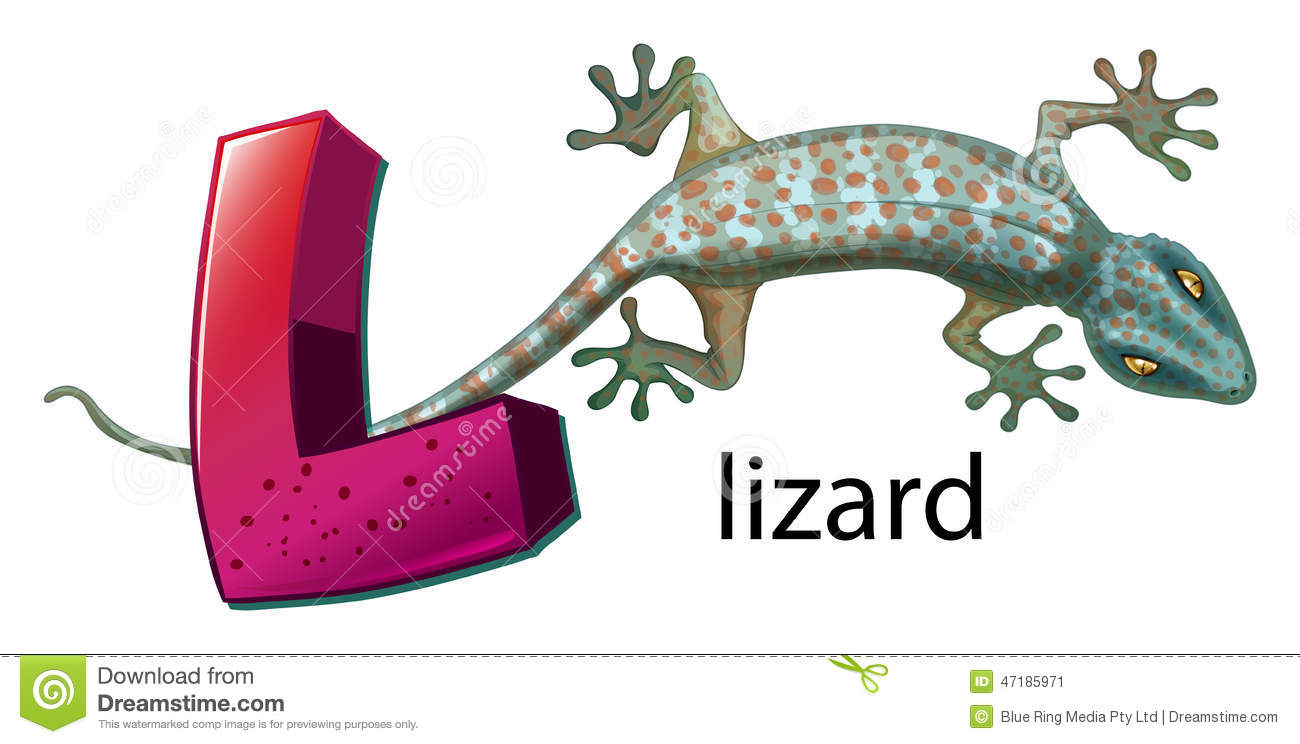 a letter l for lizard illustration 47185971 - megapixl