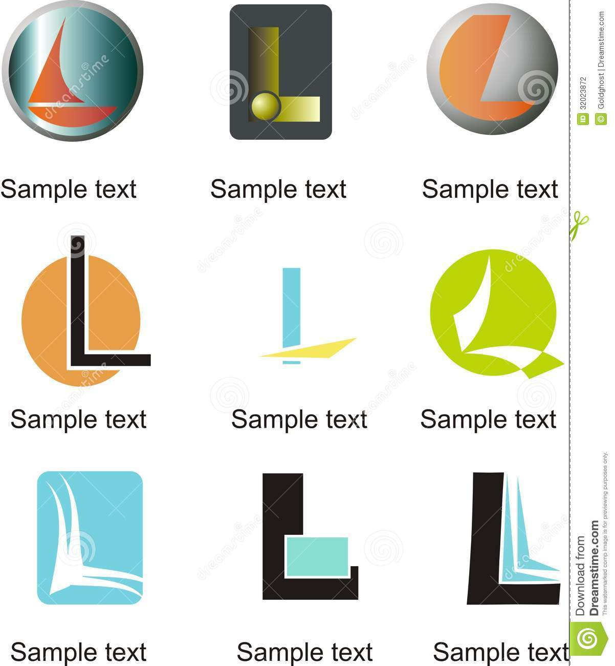 Letter L Logo Stock Photography - Image: 32023872