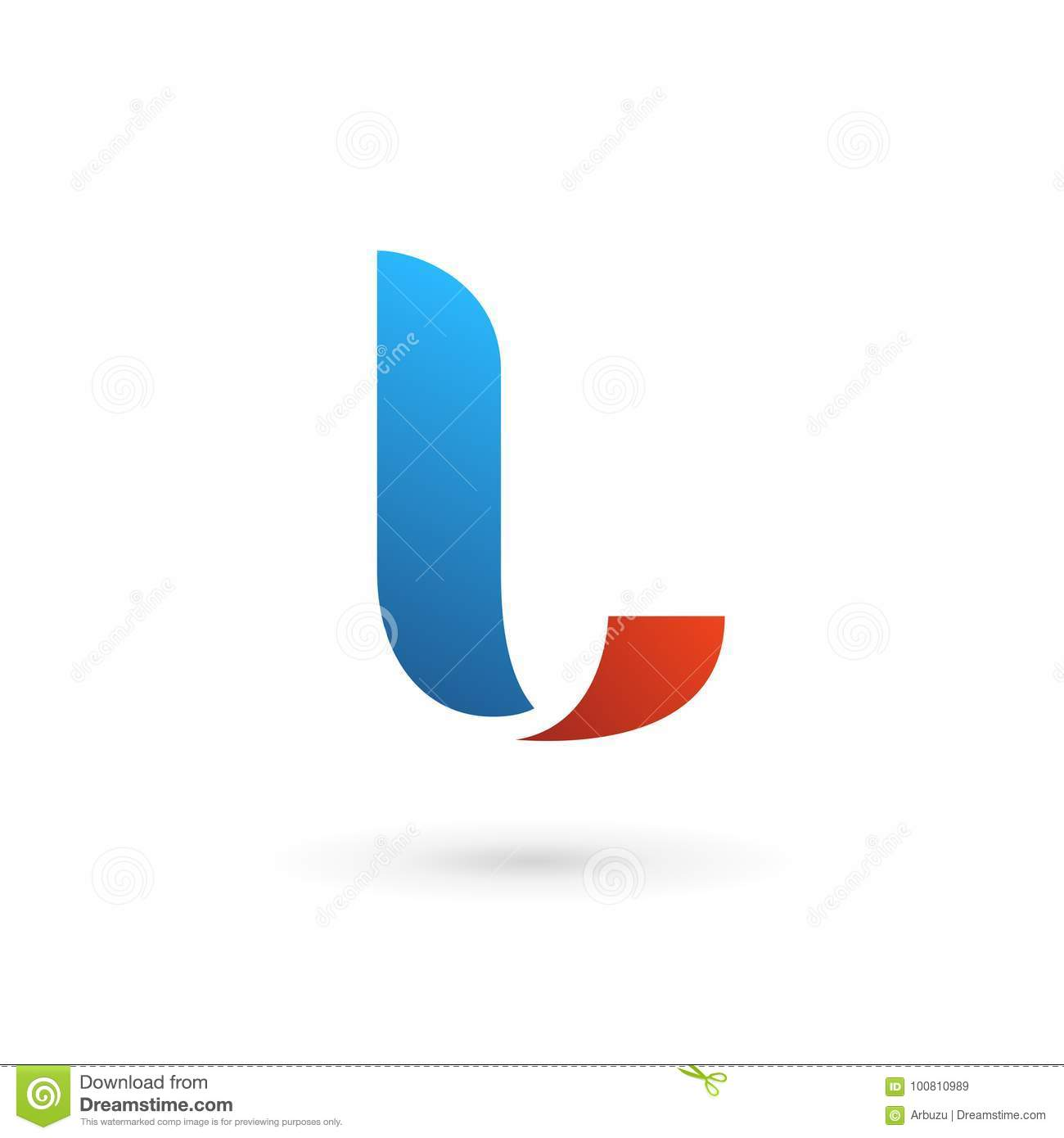 Letter L Logo Icon Design Template Elements Stock Vector ...