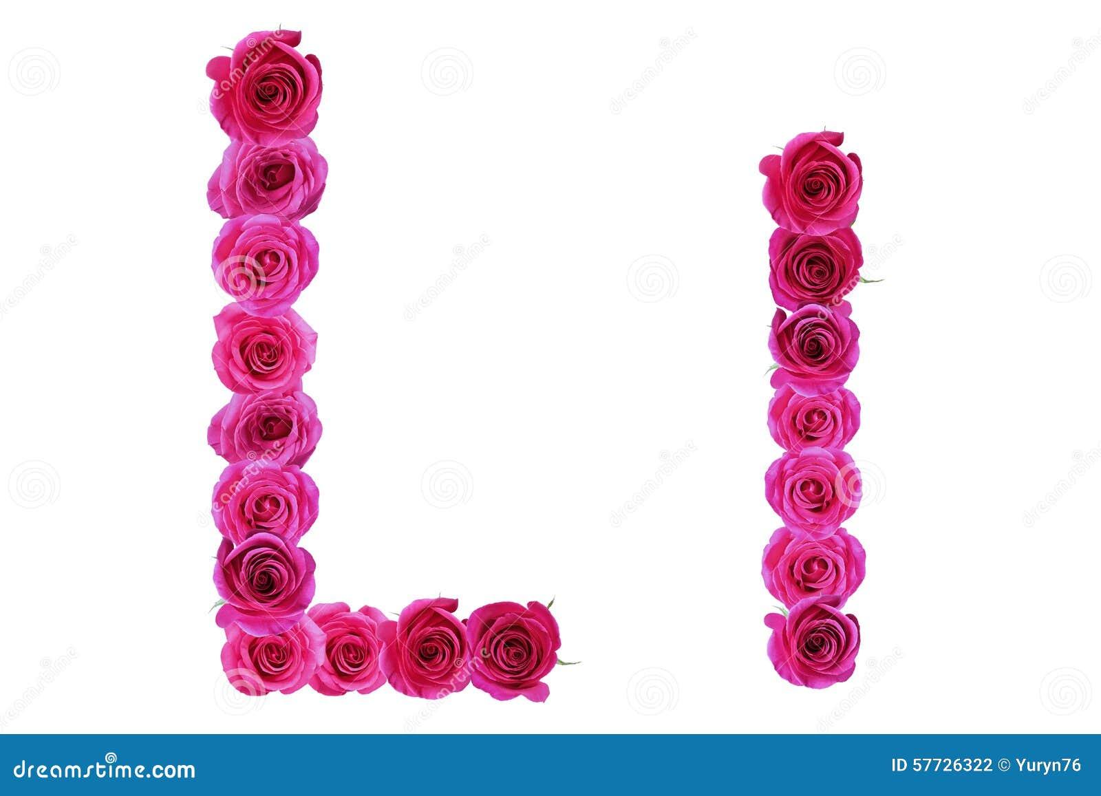 Letter L Roses Stock Image
