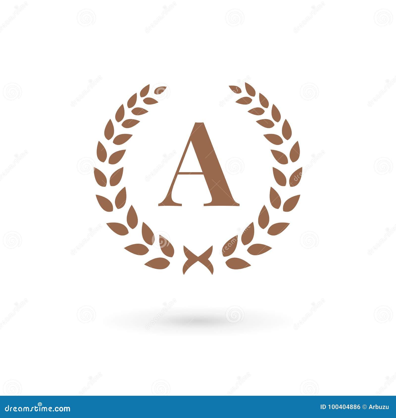 e43470f0 Letter A Laurel Wreath Logo Icon Design Template Elements Stock ...