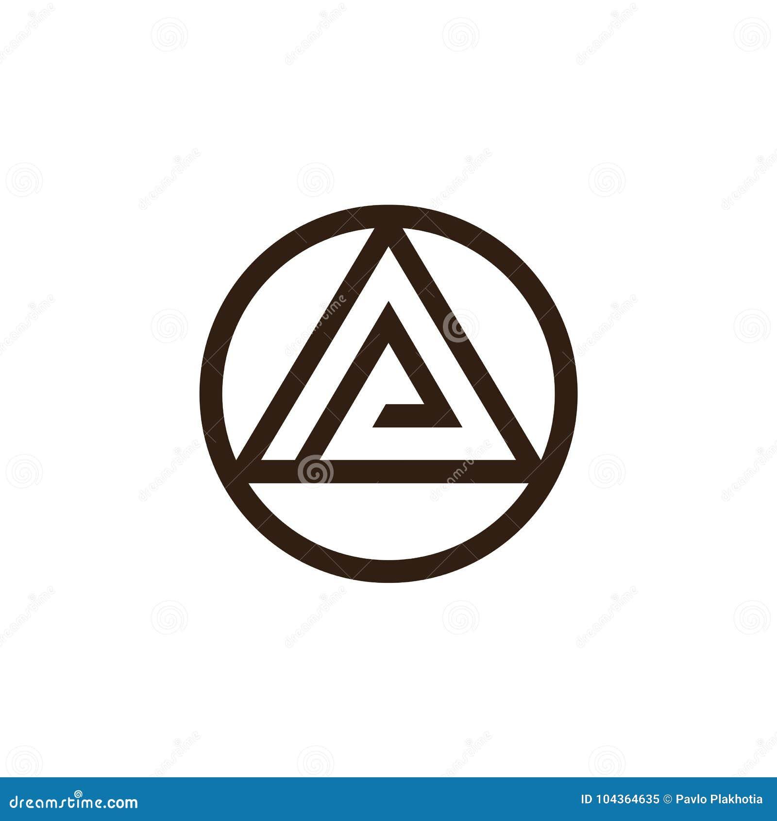Triangle and circle logo design abstract letters o and a symbol triangle and circle logo design abstract letters o and a symbol combination vector illustration buycottarizona
