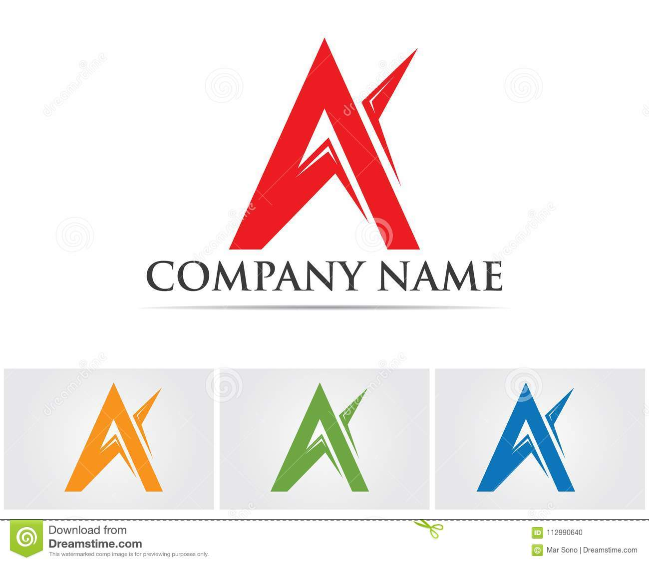 A Letter Logo Business Template Vector icon,,