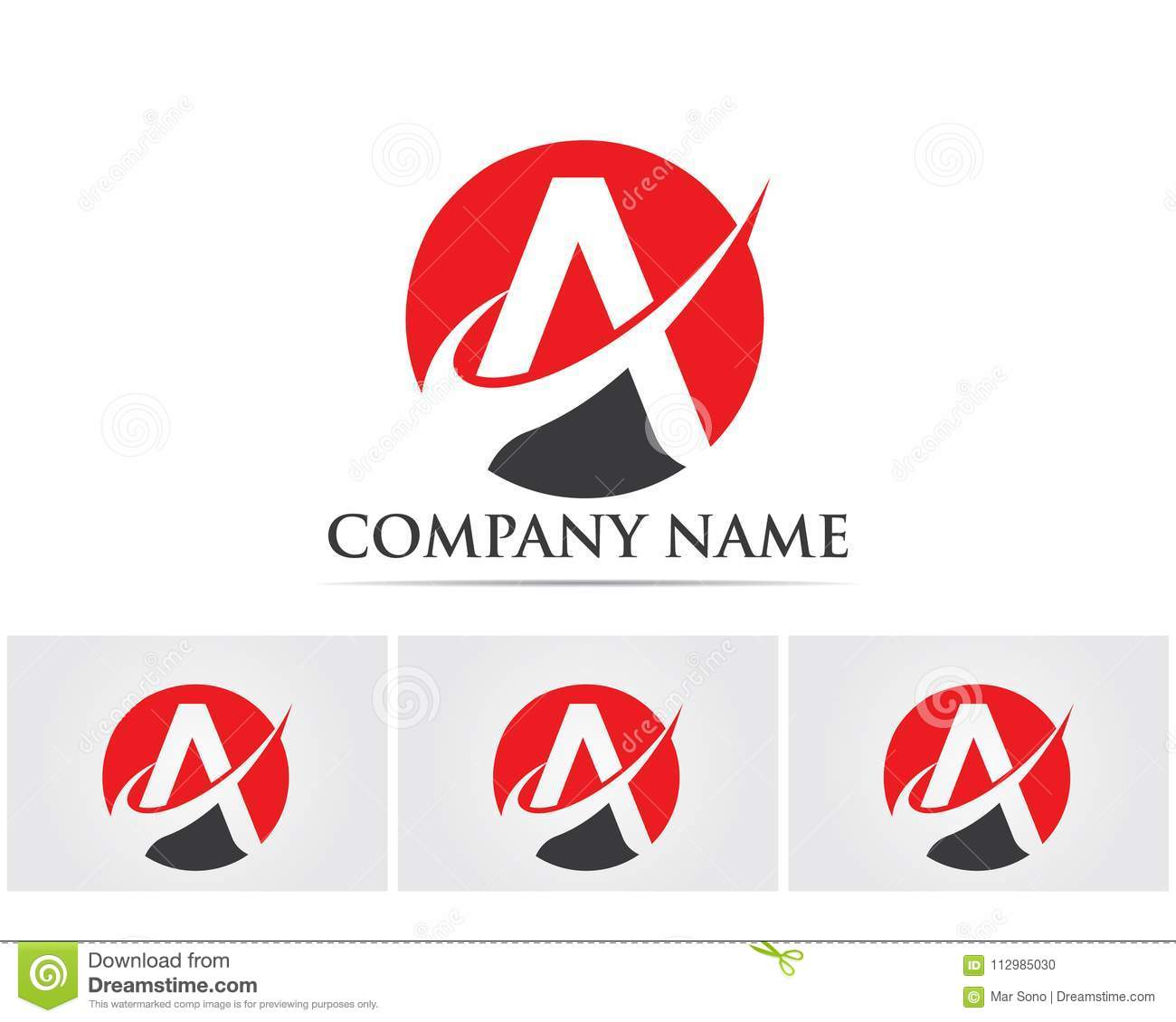 A Letter Logo Business Template Vector icon..
