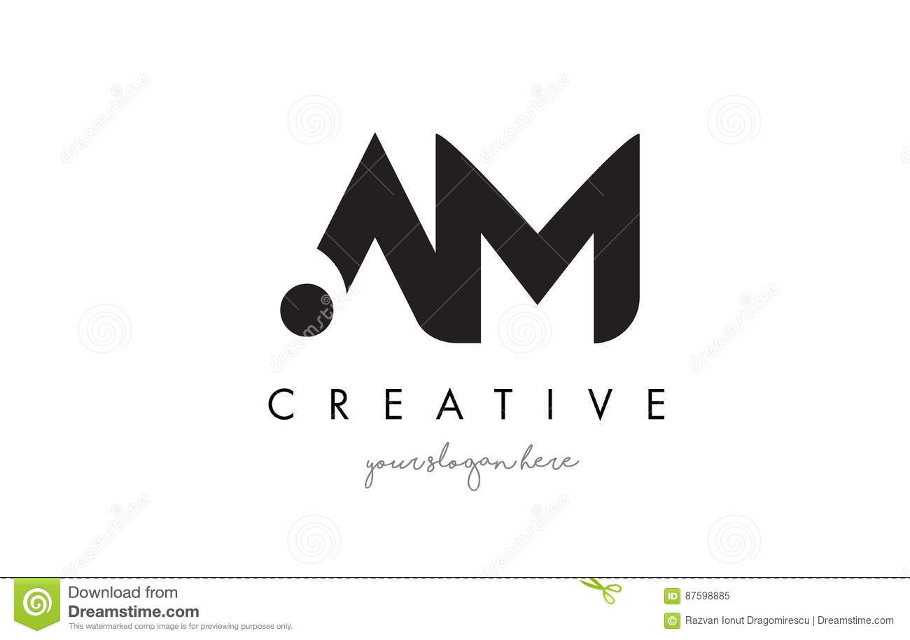 Am Letter Logo Design With Creative Modern Trendy