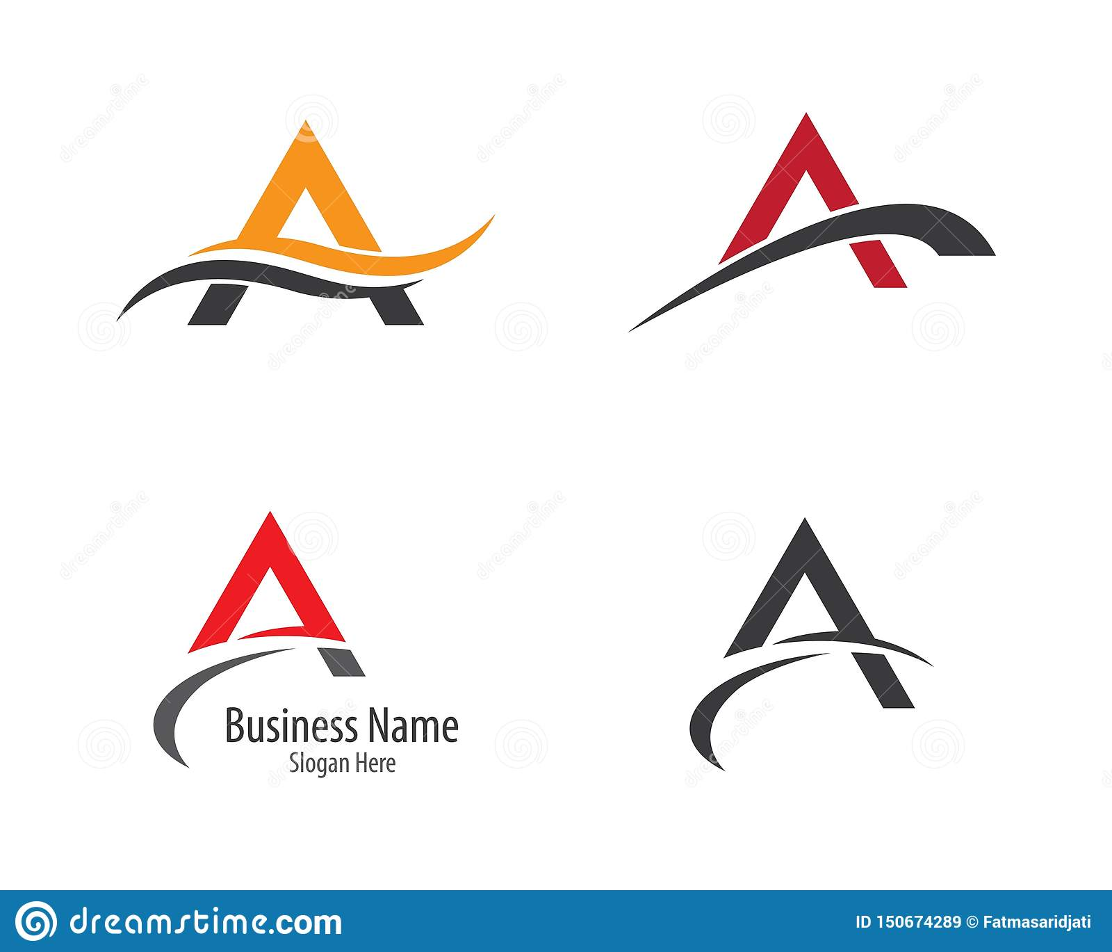 A letter logo vector icon illustration