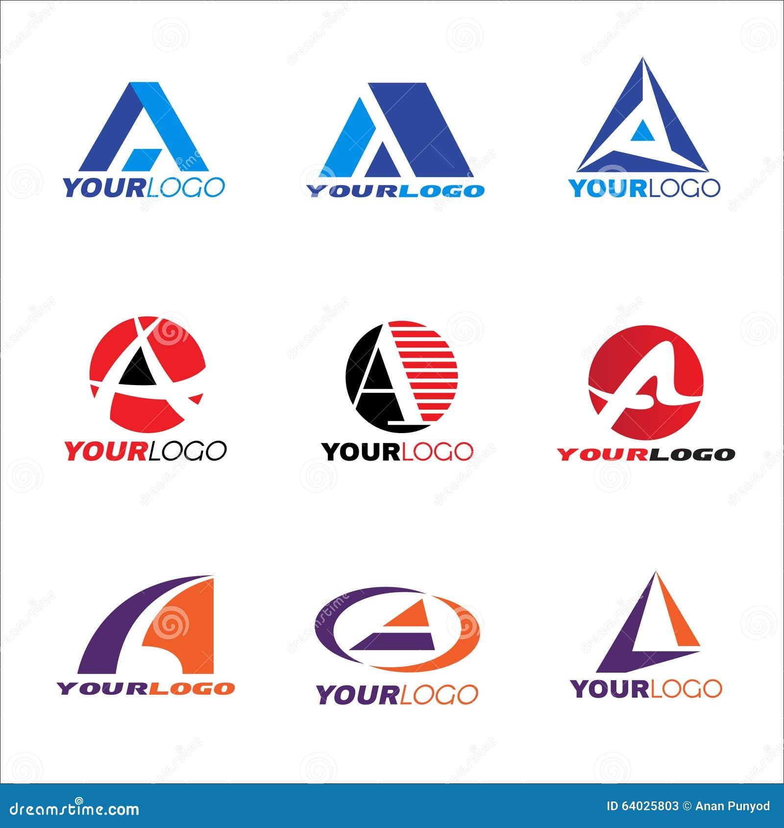 Progressive Logo Design For You Choose The Text Style To: Letter A Logo Vector Set Design Cartoon Vector