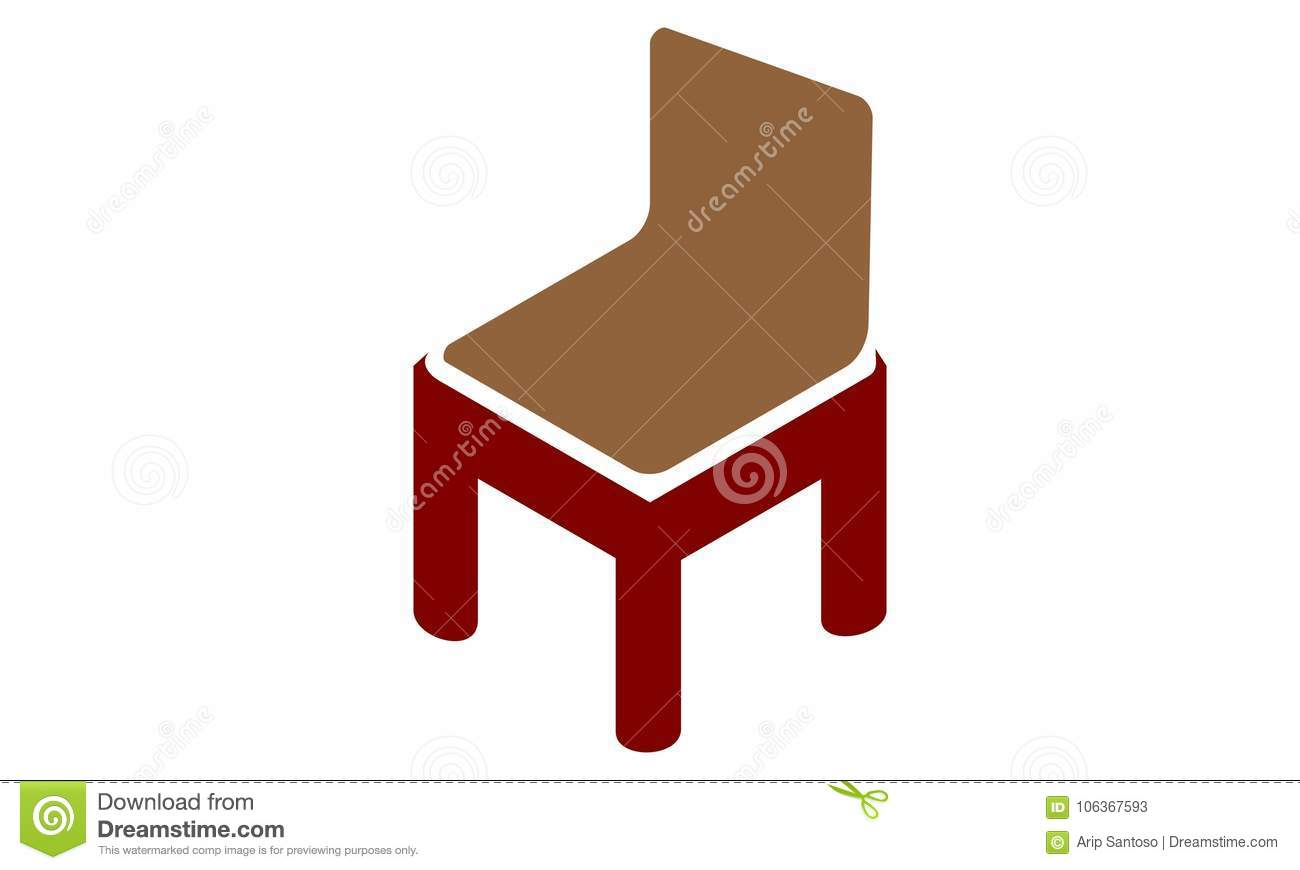 Letter M Chair Furniture stock vector. Illustration of icon - 106367593