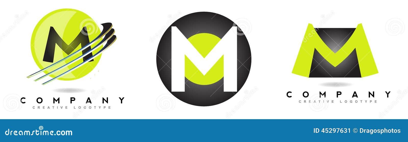 letter m logo stock illustration image of symbol sphere