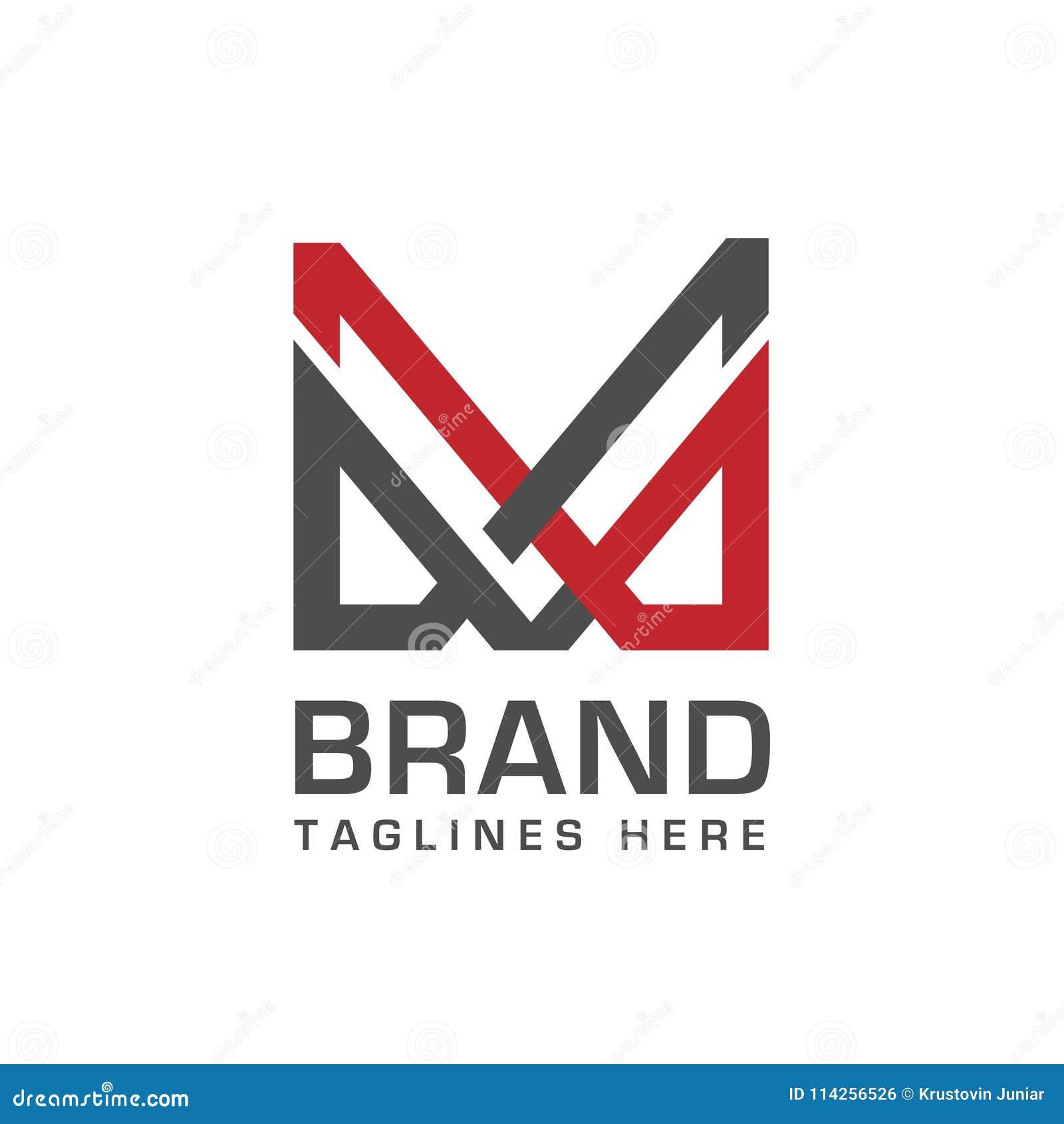 letter m logo vector illustration template