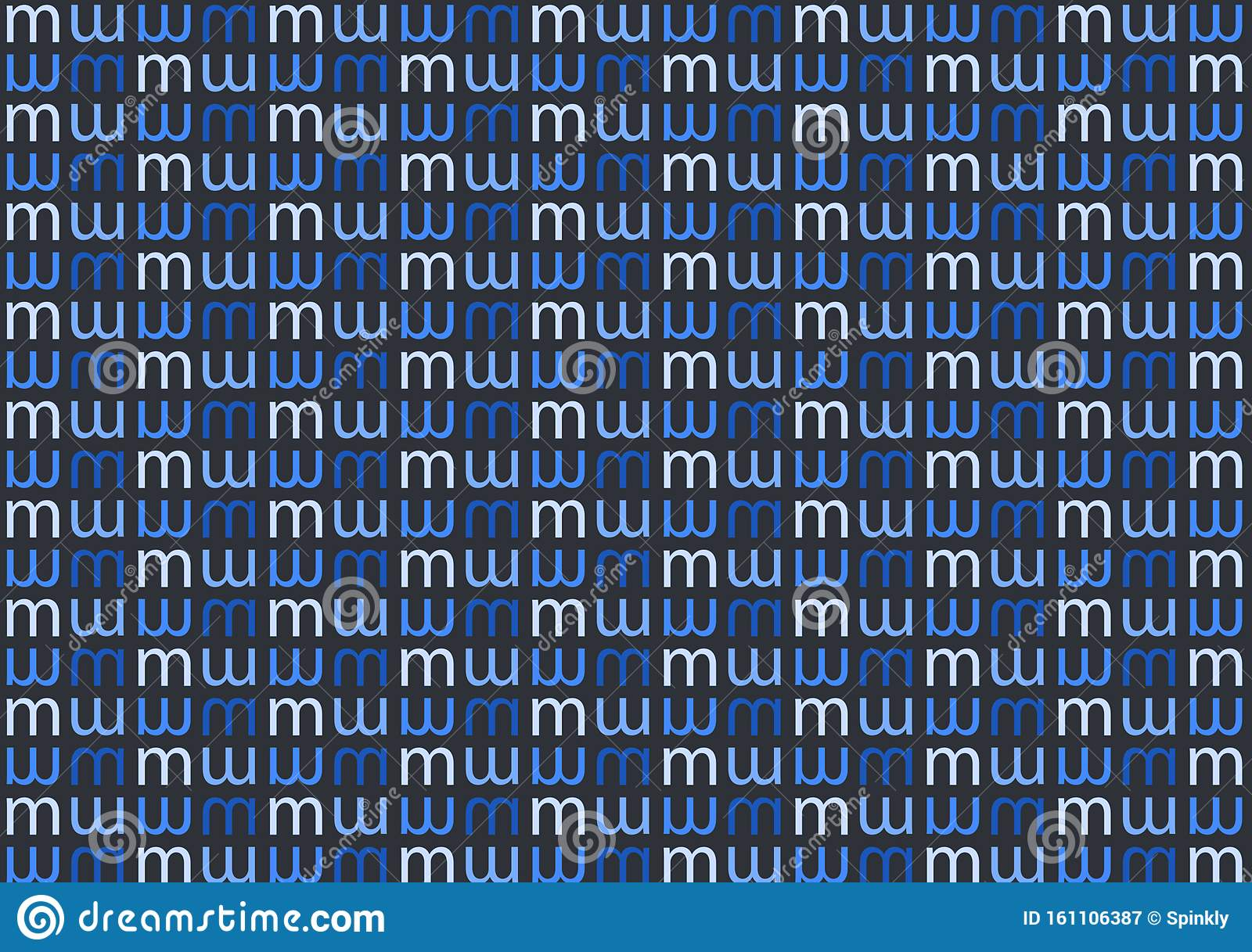 Letter M Pattern In Different Colored Blue Shades For Wallpaper Stock Illustration Illustration Of Text Layers 161106387