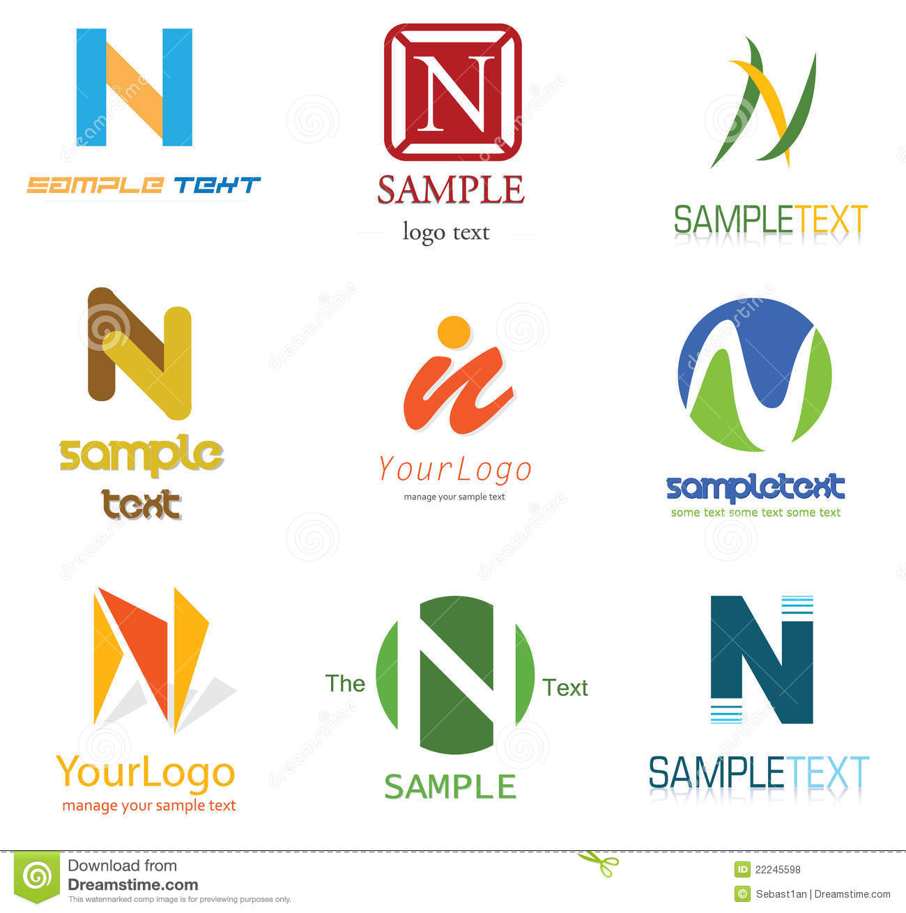 Sample Logos Graphics Design With N L