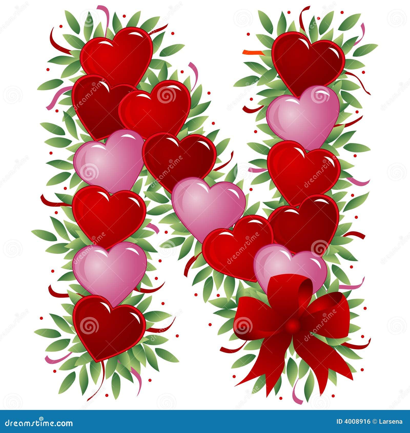 Royalty Free Stock Image Letter N Valentine Letter Image4008916 on Letter U Video Download