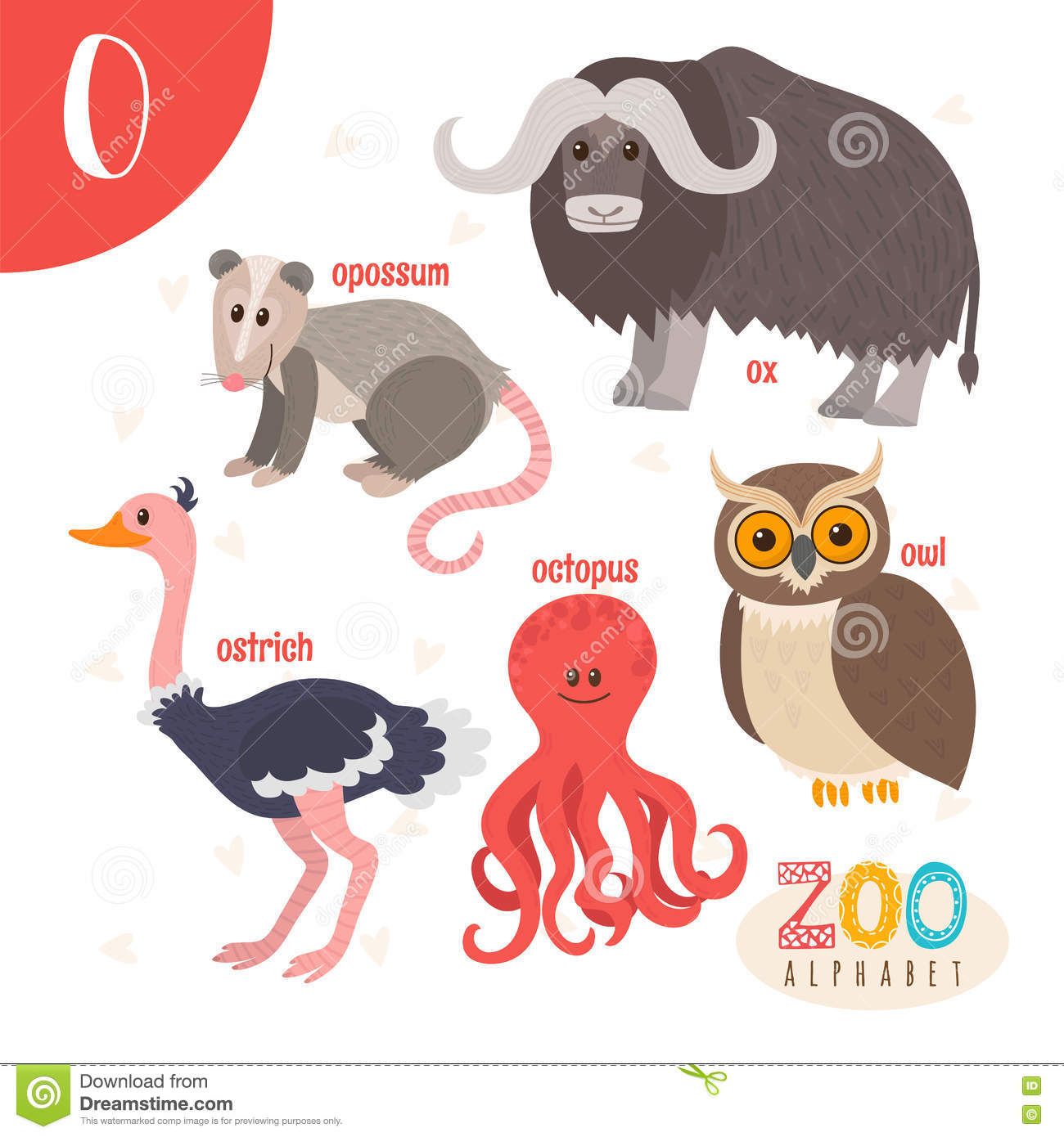 Opossum cartoons illustrations vector stock images for Animals with the letter o in their name
