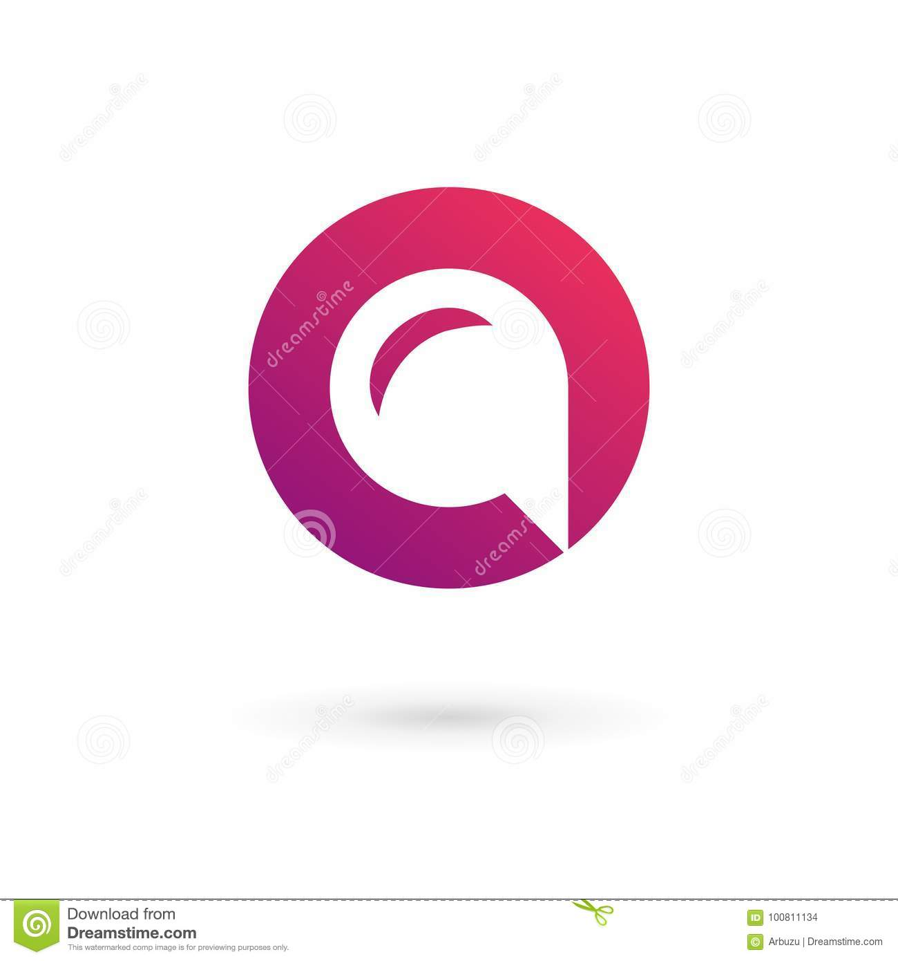 letter o number 0 speech bubble logo icon design template elements