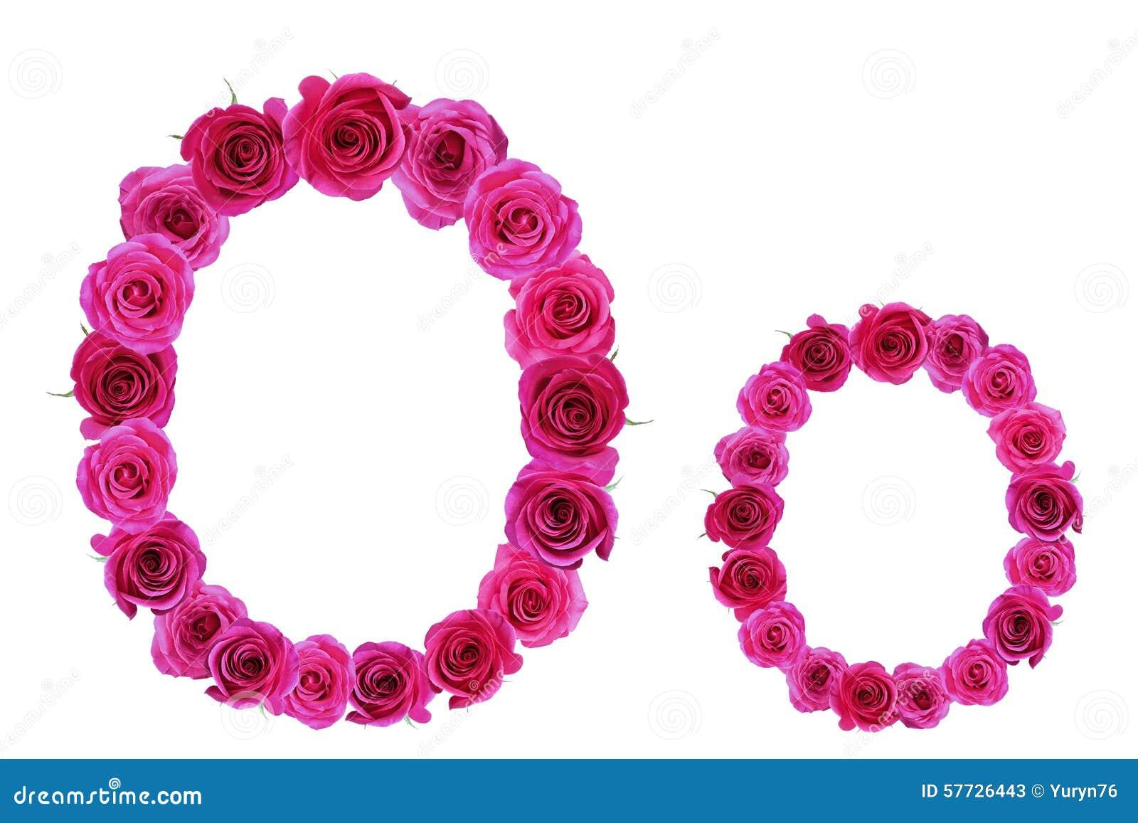 Letter O Roses Stock Image