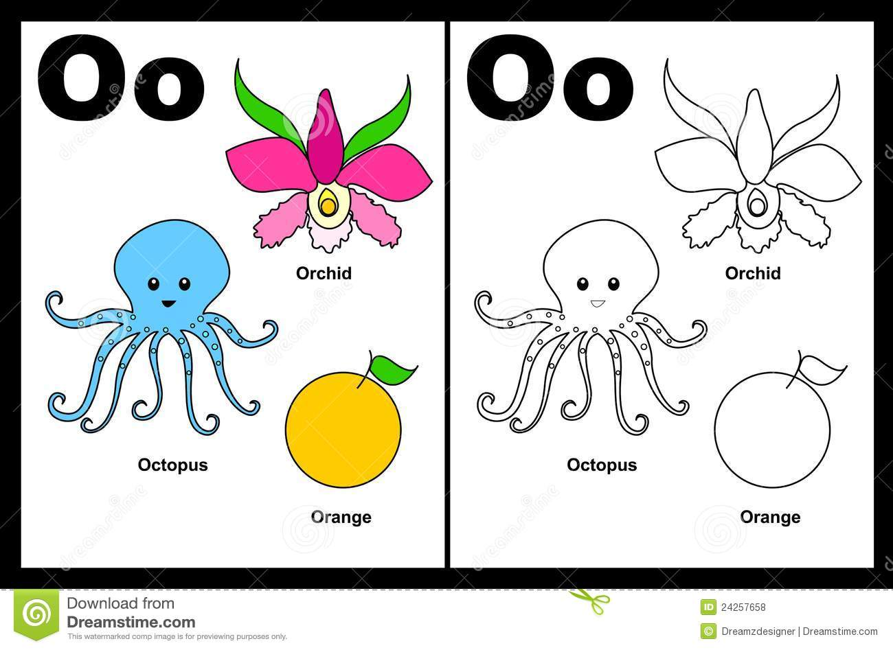 Viewing Gallery For - Letter O Worksheets