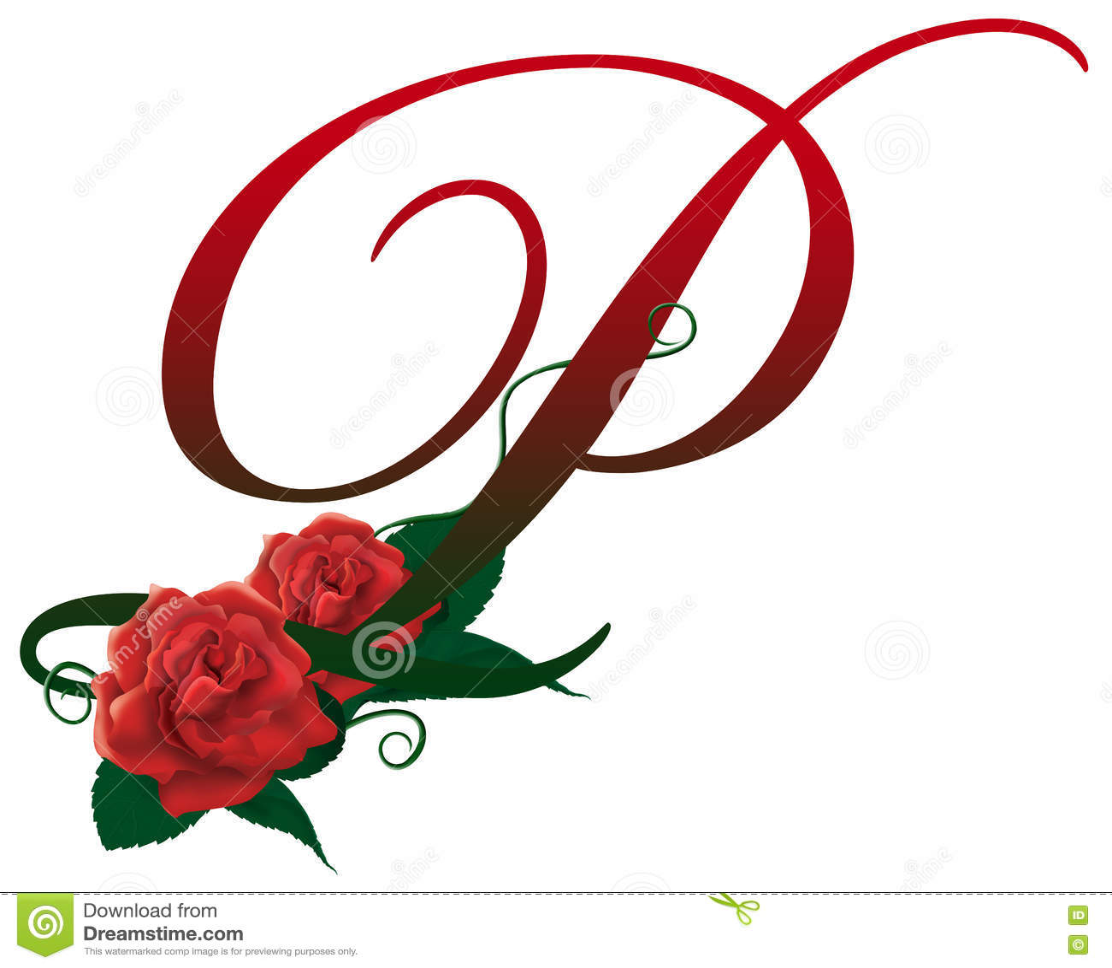 P Letter Images.Letter P Red Floral Illustration Stock Image Illustration Of