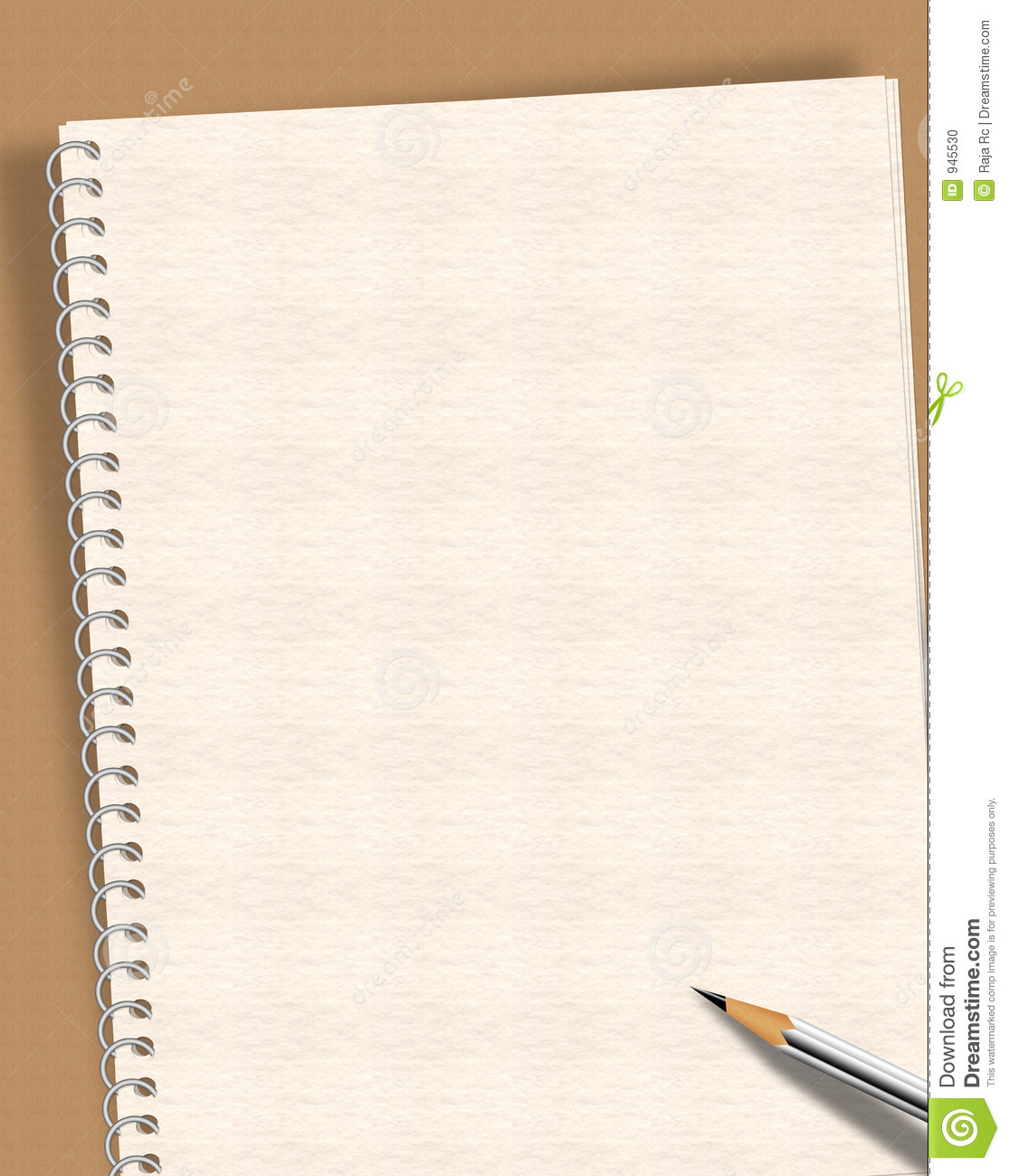 notepad writing template .