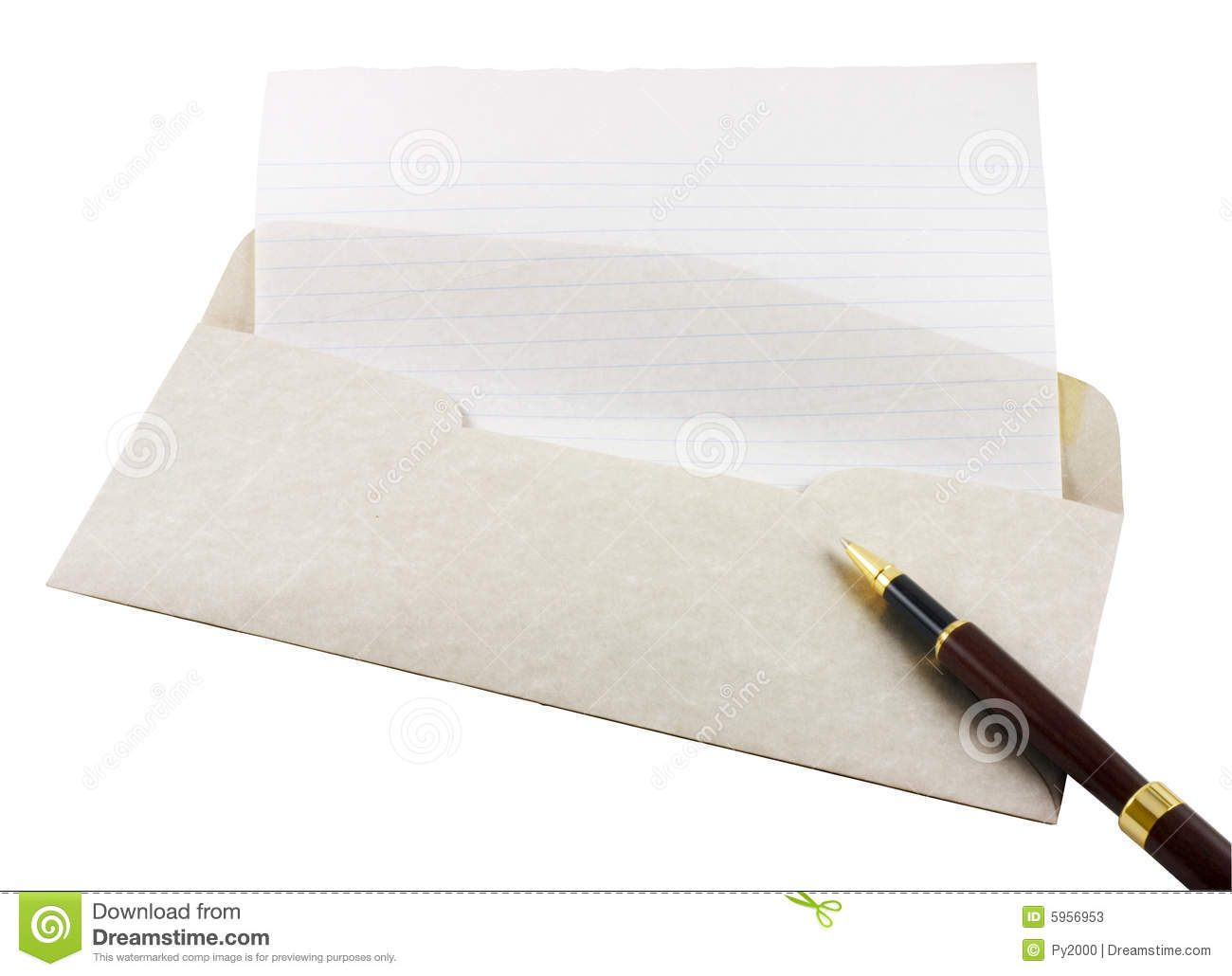 letter paper  envelope and pen stock photos