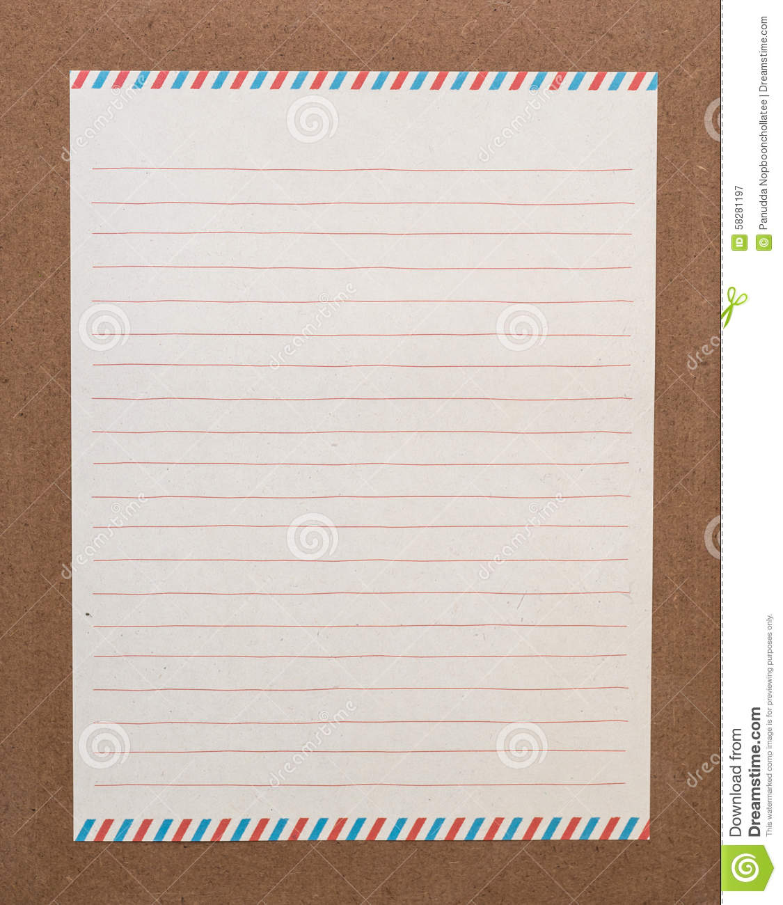 Letter Paper Stock Photo - Image: 58281197