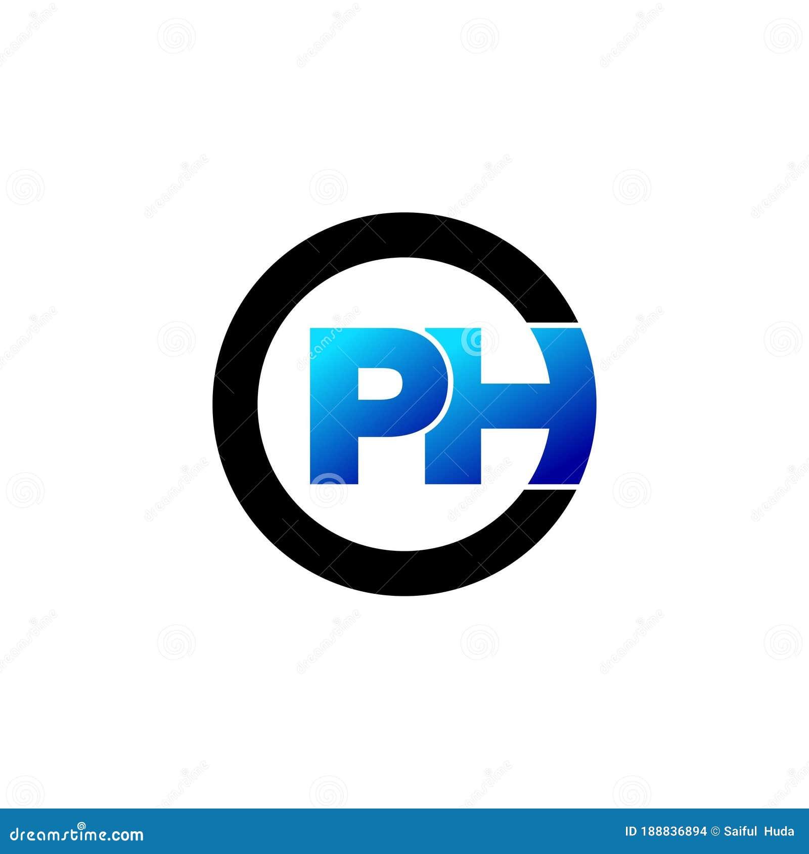 Letter Ph Circle Monogram Logo Icon Design Vector Stock Vector Illustration Of Industry Data 188836894