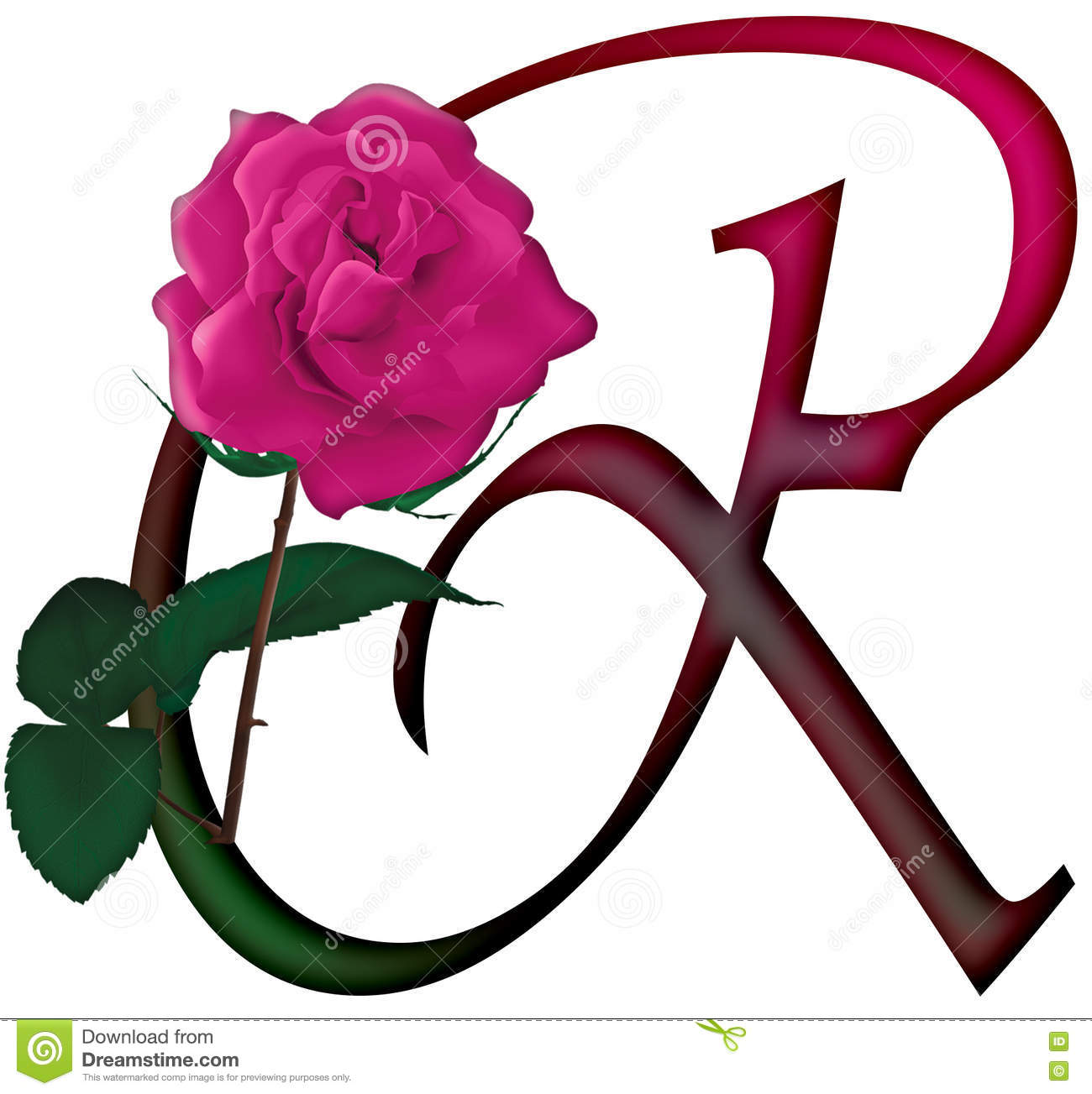 Letter R Floral Font Stock Photo Illustration Of Calligraphy 78539214