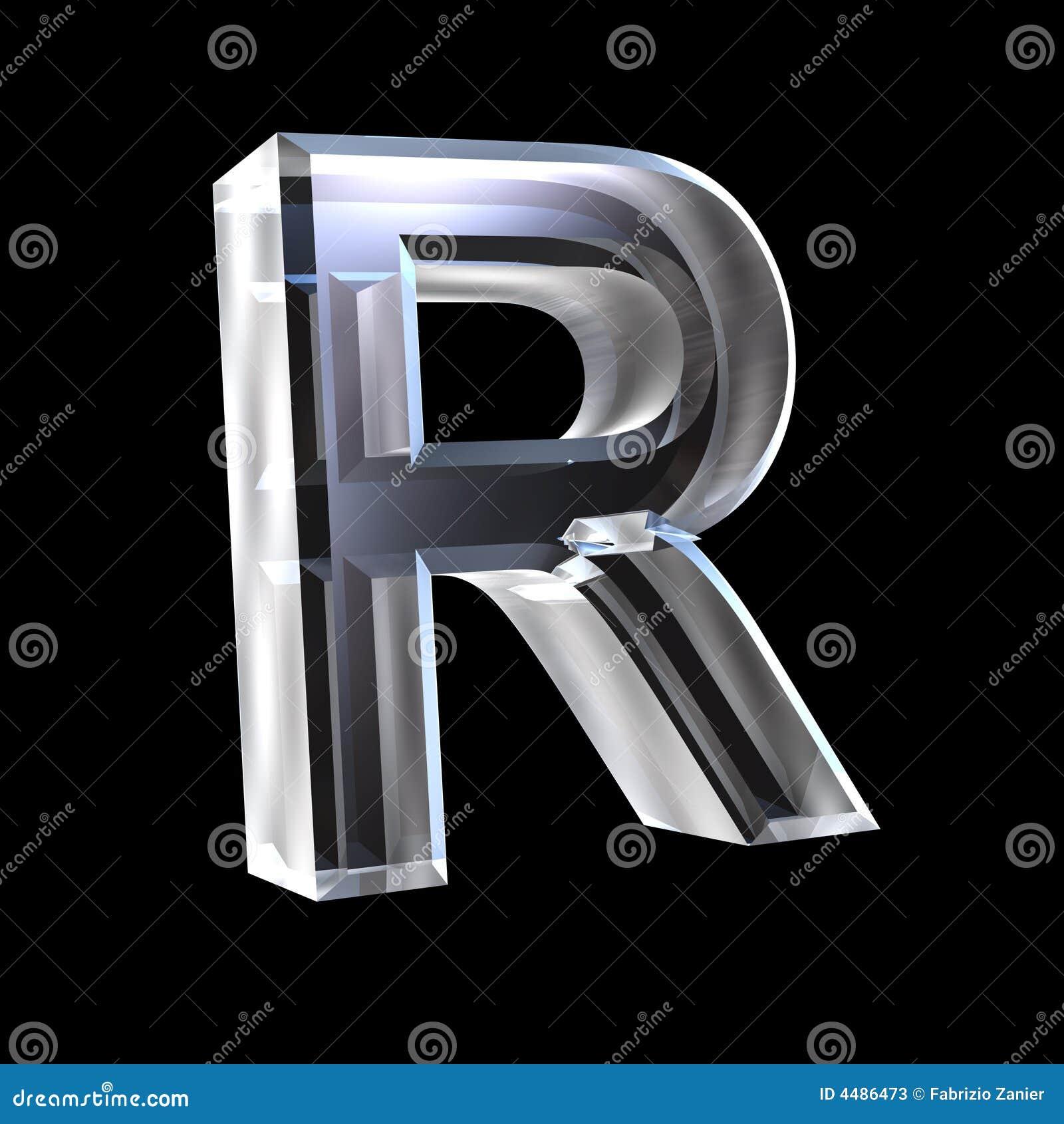 letter r in glass 3d stock illustration illustration of message 4486473. Black Bedroom Furniture Sets. Home Design Ideas