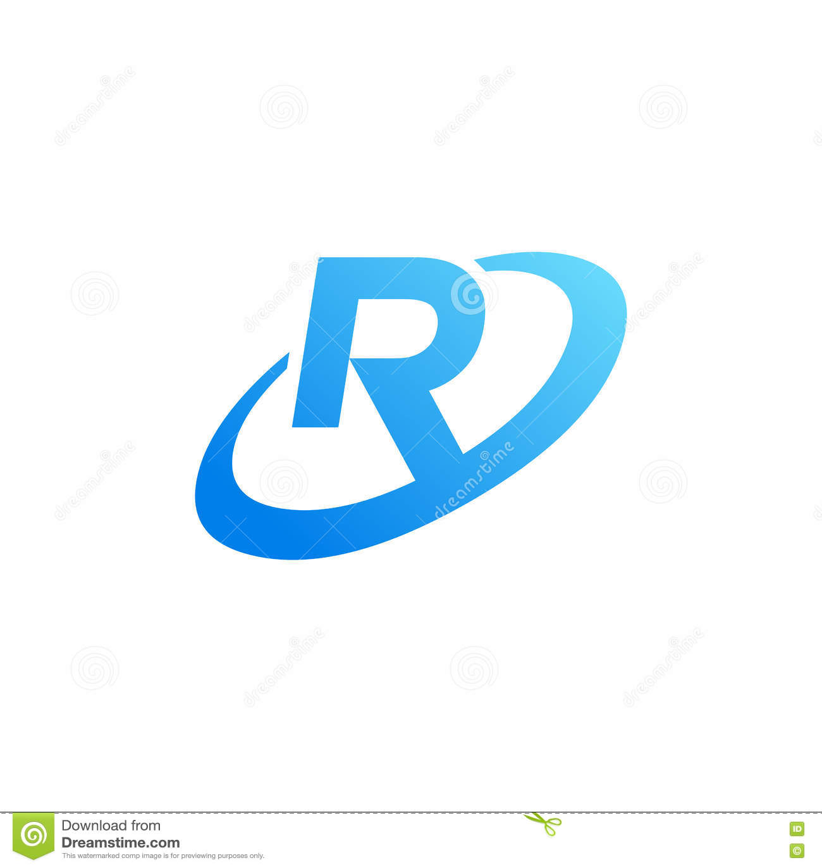 Letter R Inside Circle Symbol Stock Vector Illustration Of Modern