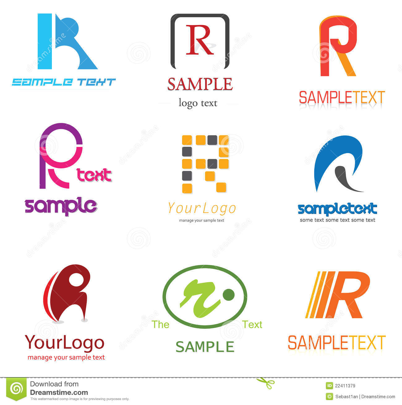 Letter r logo stock vector illustration of identity 22411379 alphabetical logo design concepts letter r thecheapjerseys Images