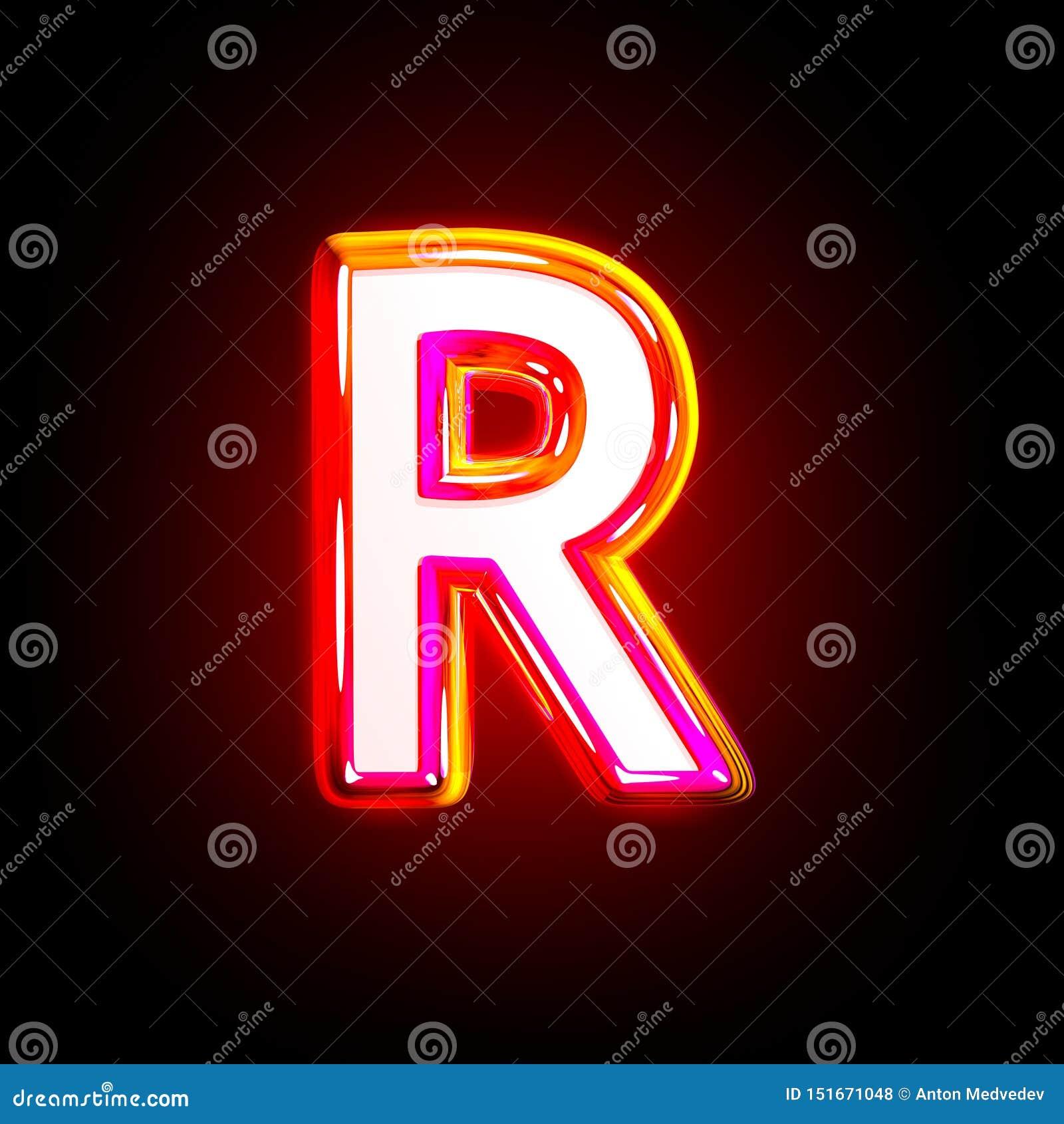Luxury Glow Red Creative Alphabet