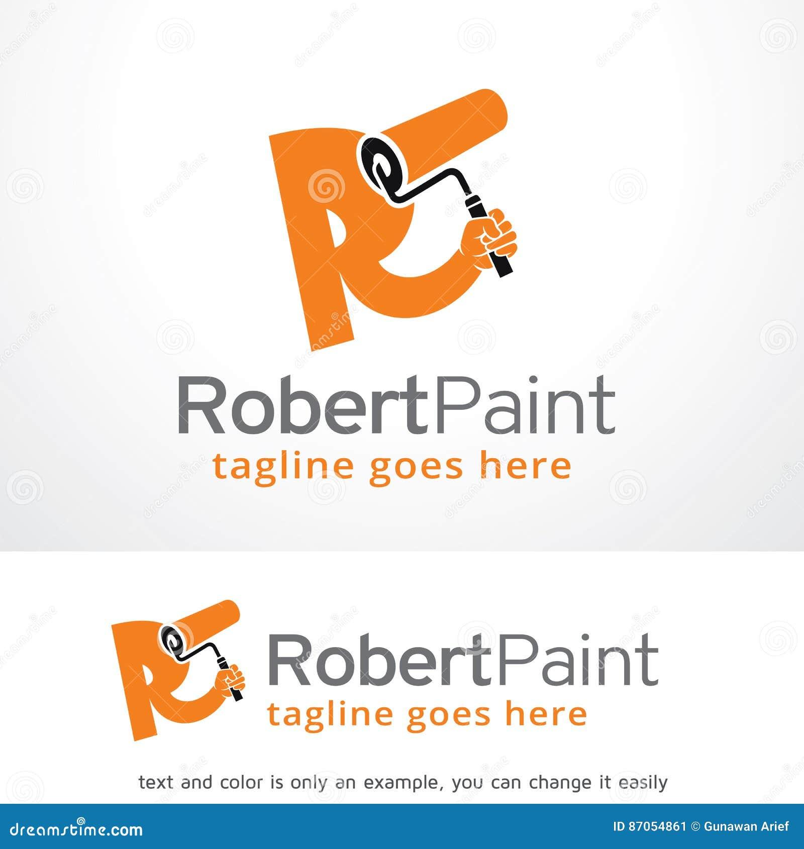 letter r paint logo template design vector