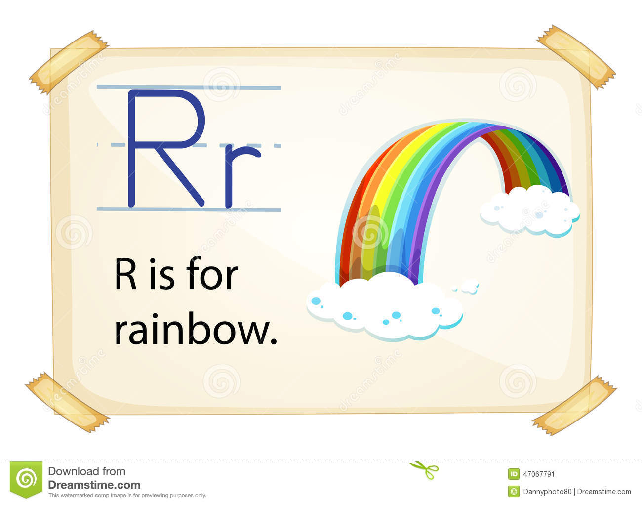 R Is For Rainbow A letter R for rainbow...
