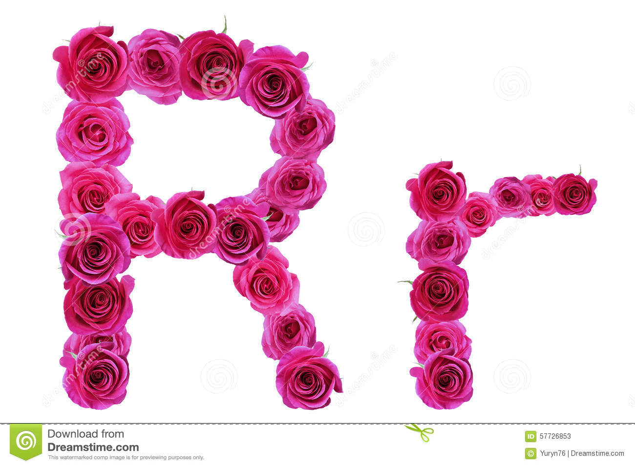 Letter S With Roses Stock Vector Illustration Of Spell