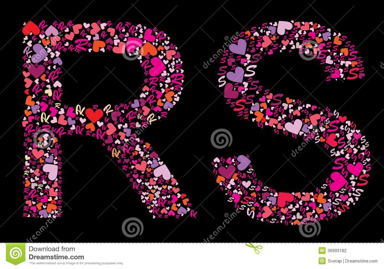 Letter R S Valentine Alphabet Stock Vector Illustration Of