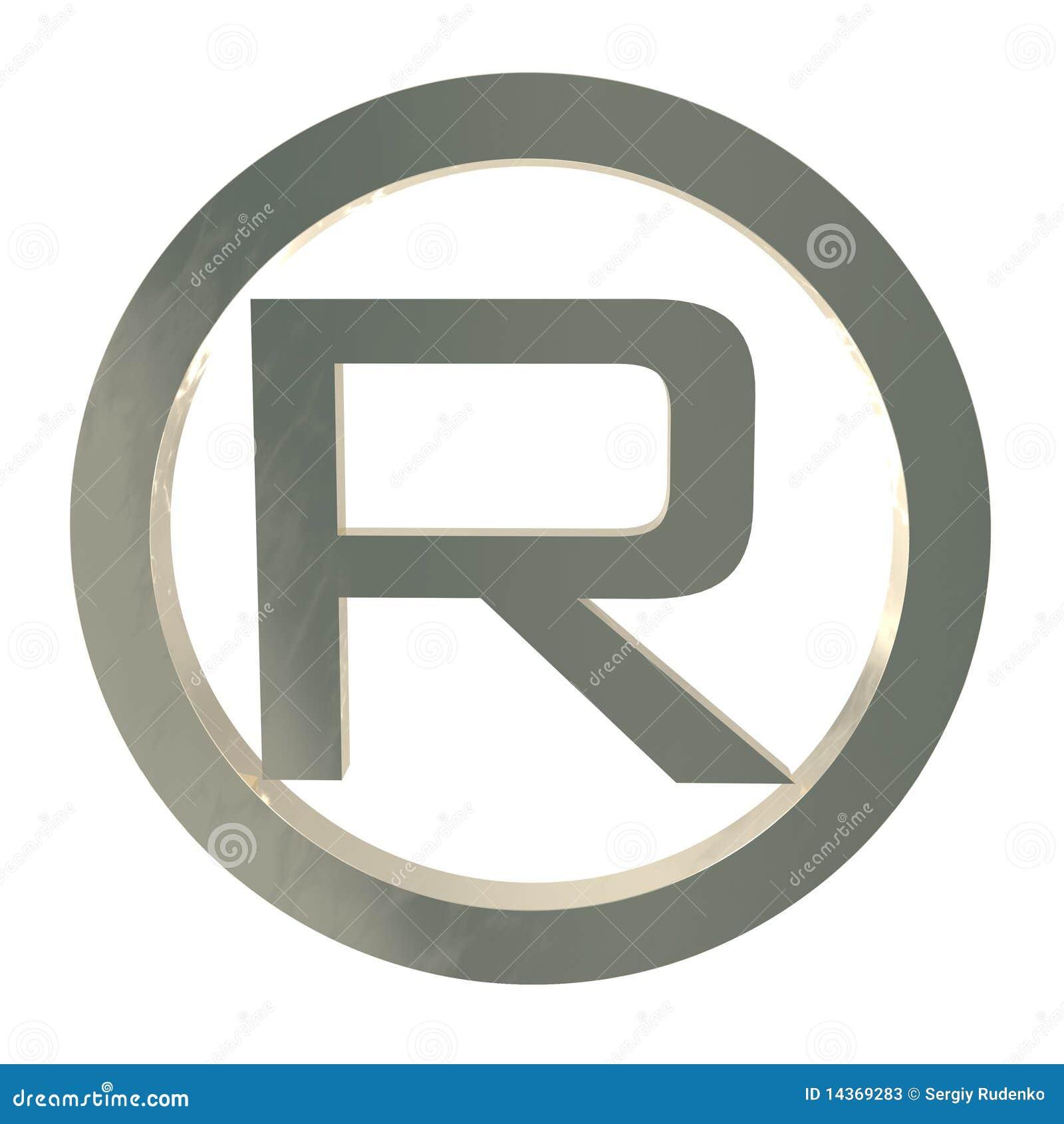 Letter R Trademark Symbol Isolated On White Stock ... R Symbol