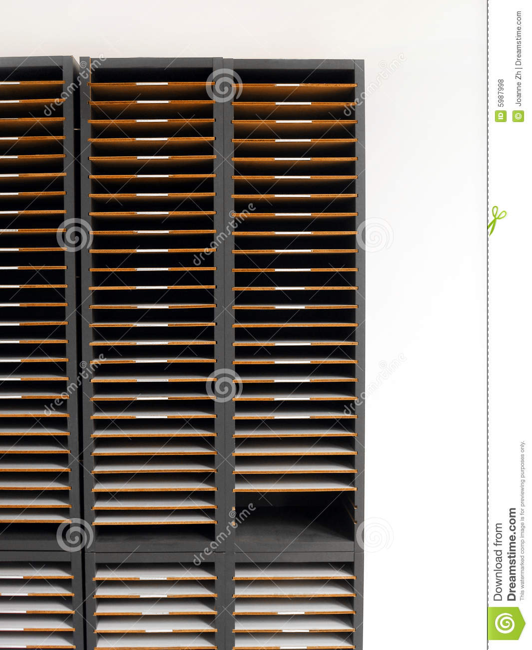 letter rack or cabinet stock photo image of different 5987998