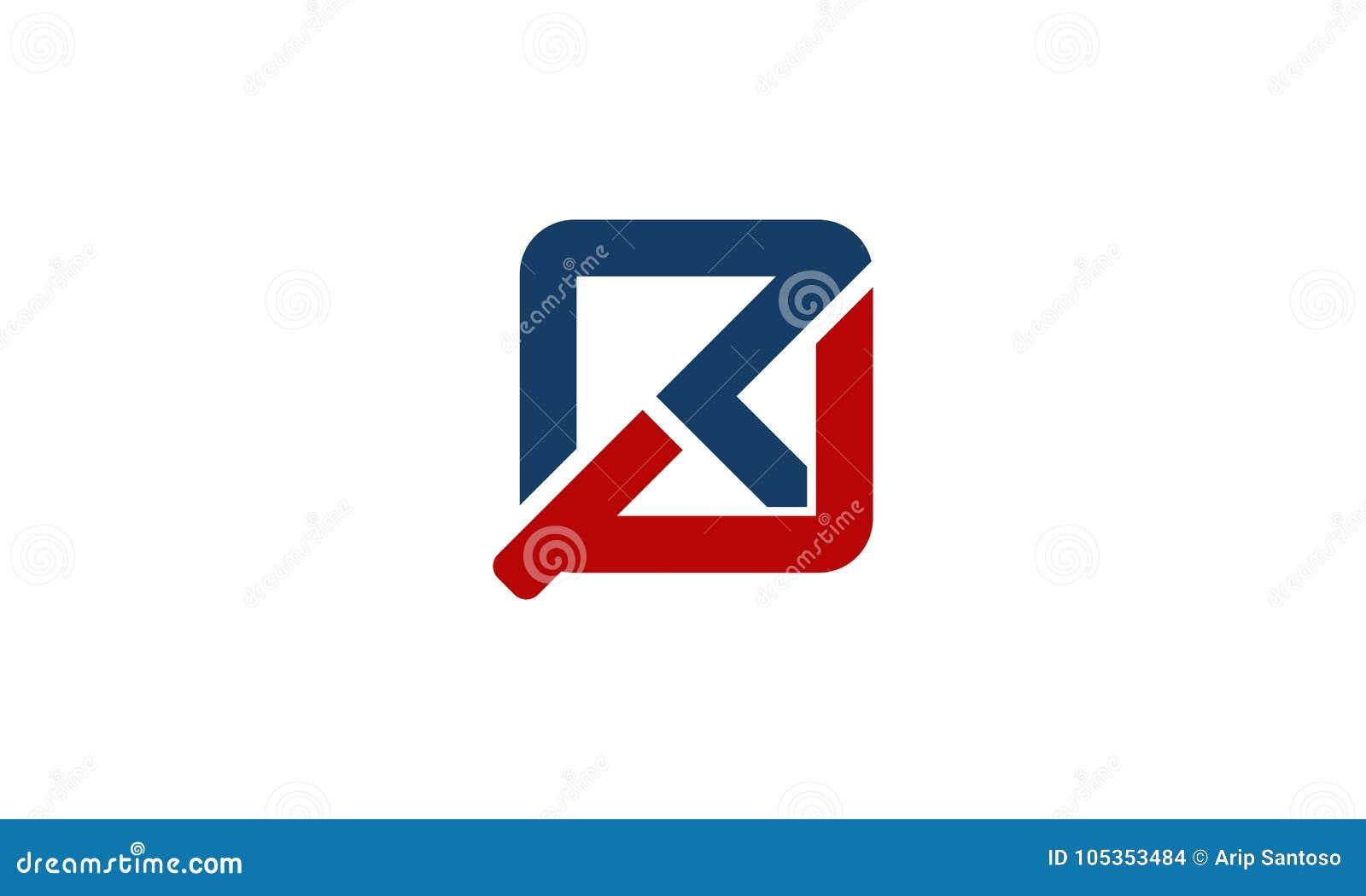 letter rp modern