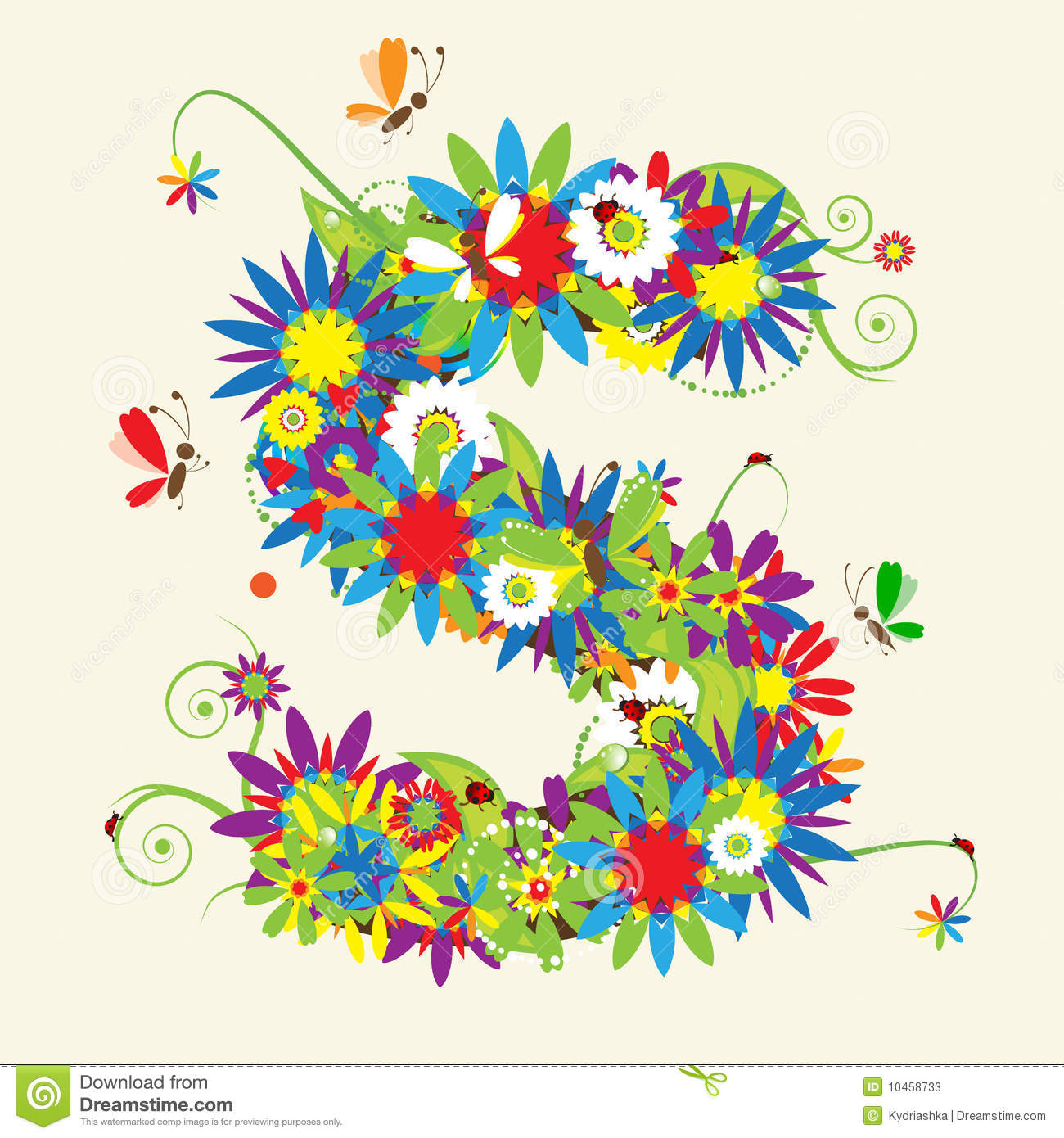 Stock Images Stock Footage Free Images Designers area Contributors ...: www.dreamstime.com/stock-photos-letter-s-floral-design-image10458733