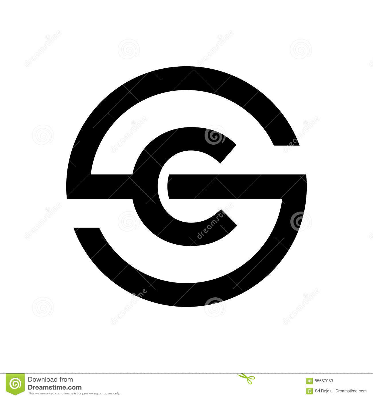 Letter s symbol combination with c stock vector illustration of letter s symbol combination with c biocorpaavc Images