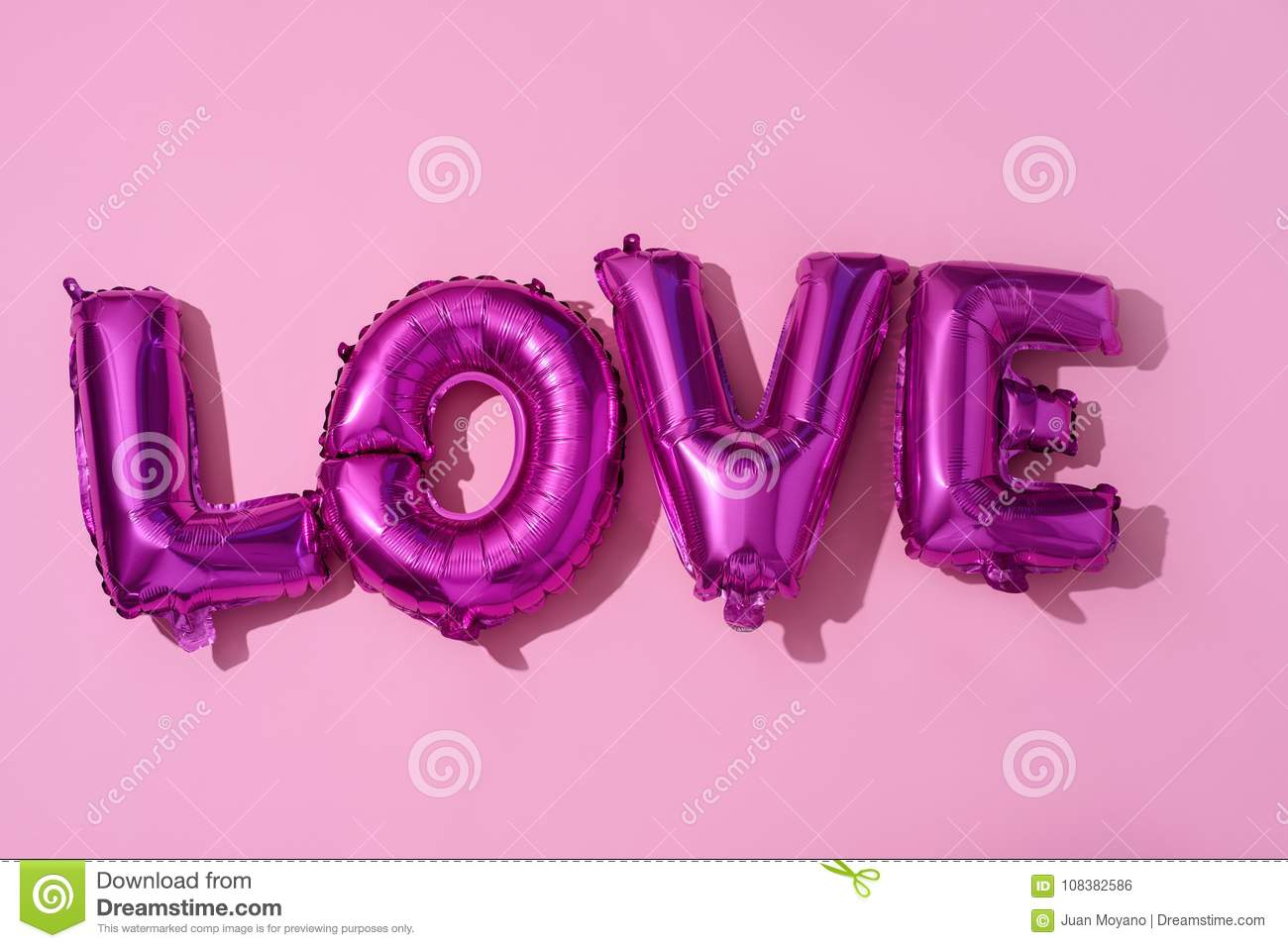 Letter-shaped Balloons Forming The Word Love Stock Photo - Image of ...
