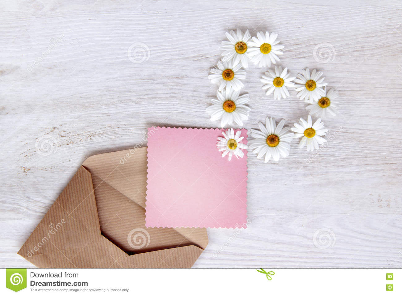 Letter With The Symbol Of Flowers Heart Stock Image Image Of Open