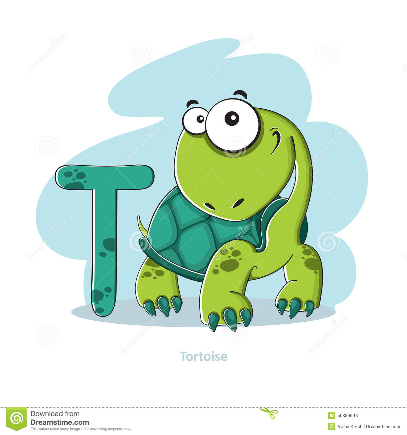 Letter t with funny tortoise stock vector illustration of cute letter t with funny tortoise altavistaventures Gallery