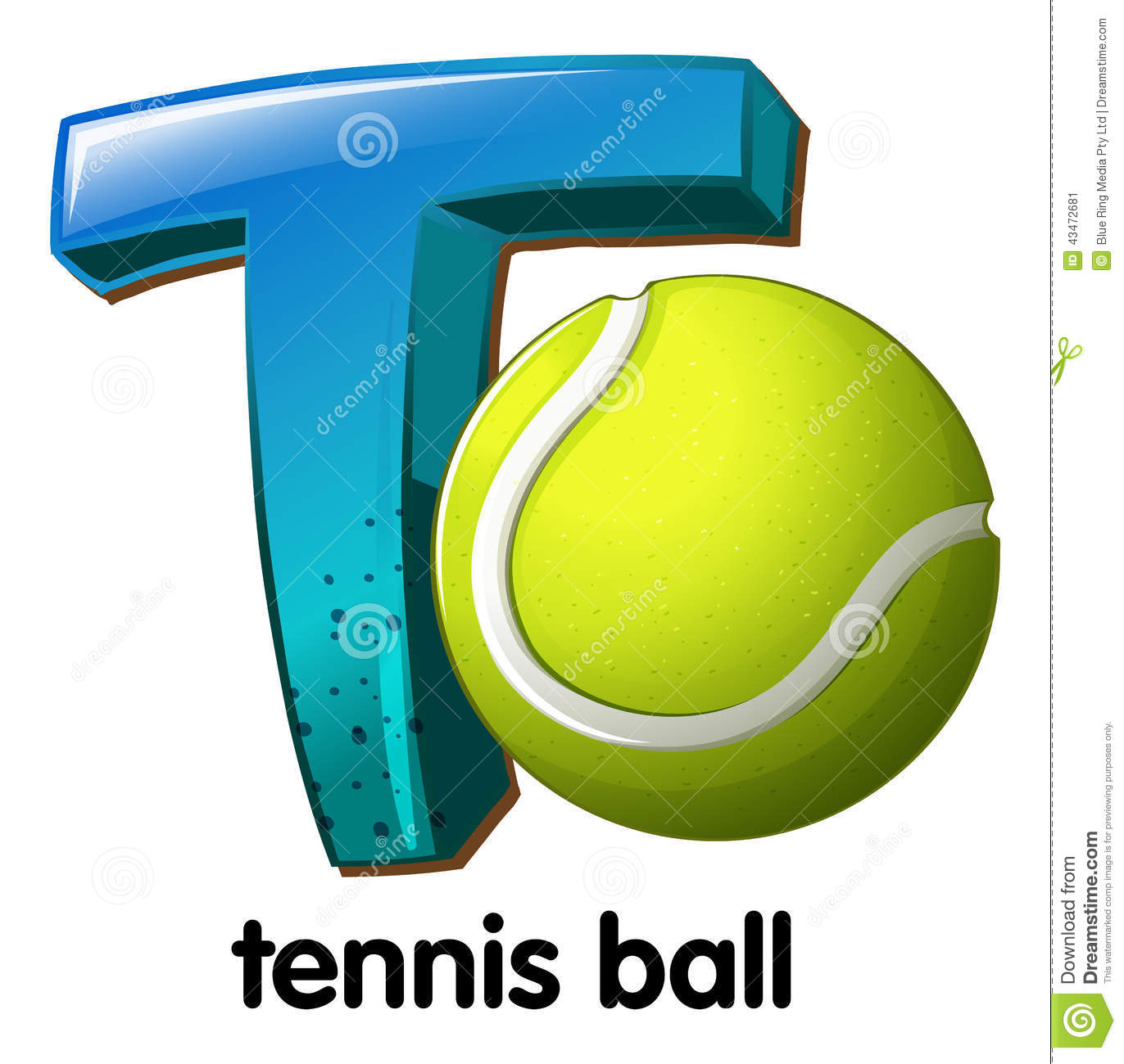 A Letter T For Tennis Ball Ill...