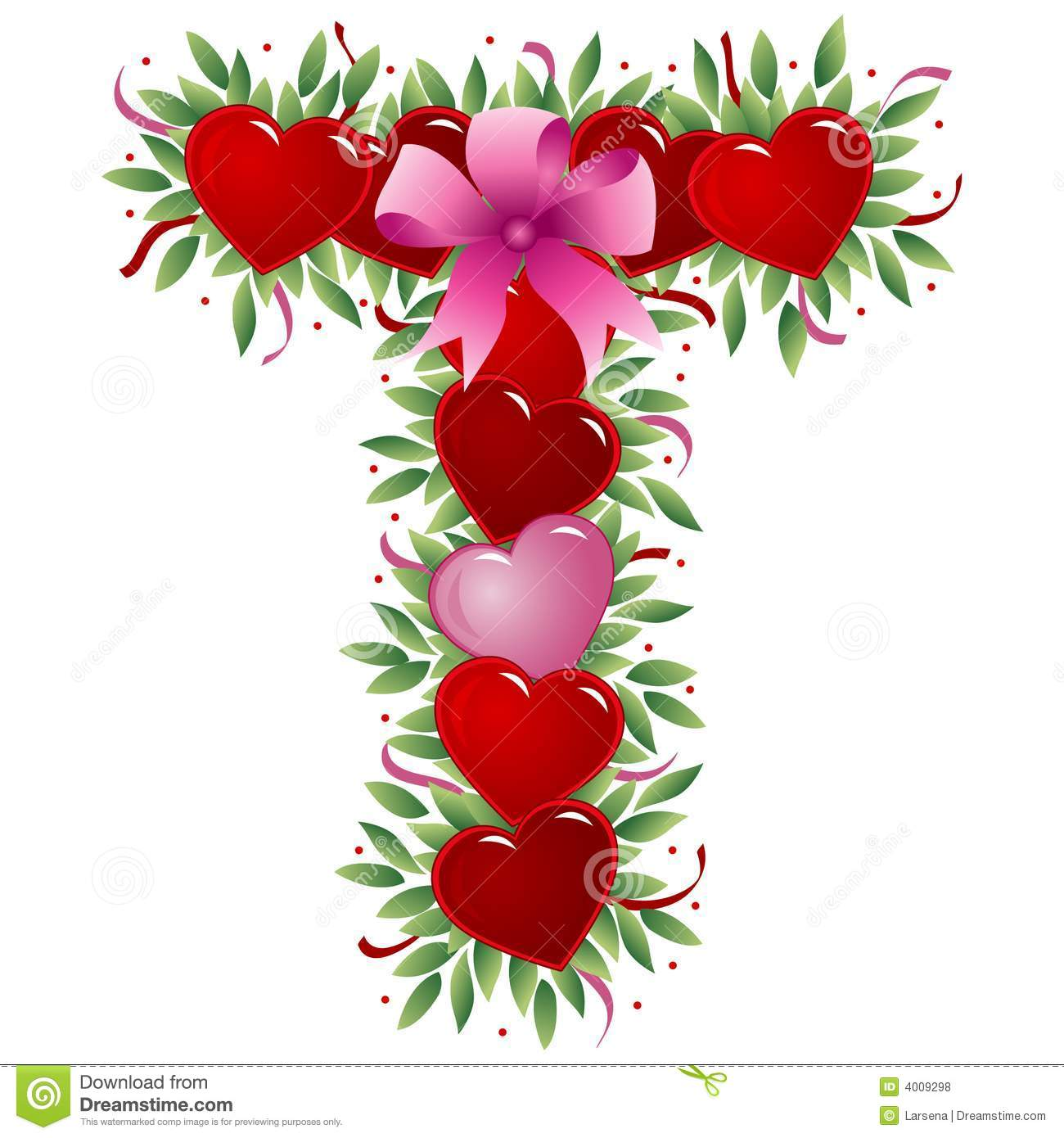 Letter T - Valentine Letter Royalty Free Stock Photos - Image: 4009298