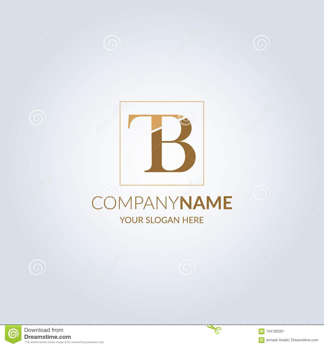 Letter TB Symbol Logo . Template For Your Design Stock